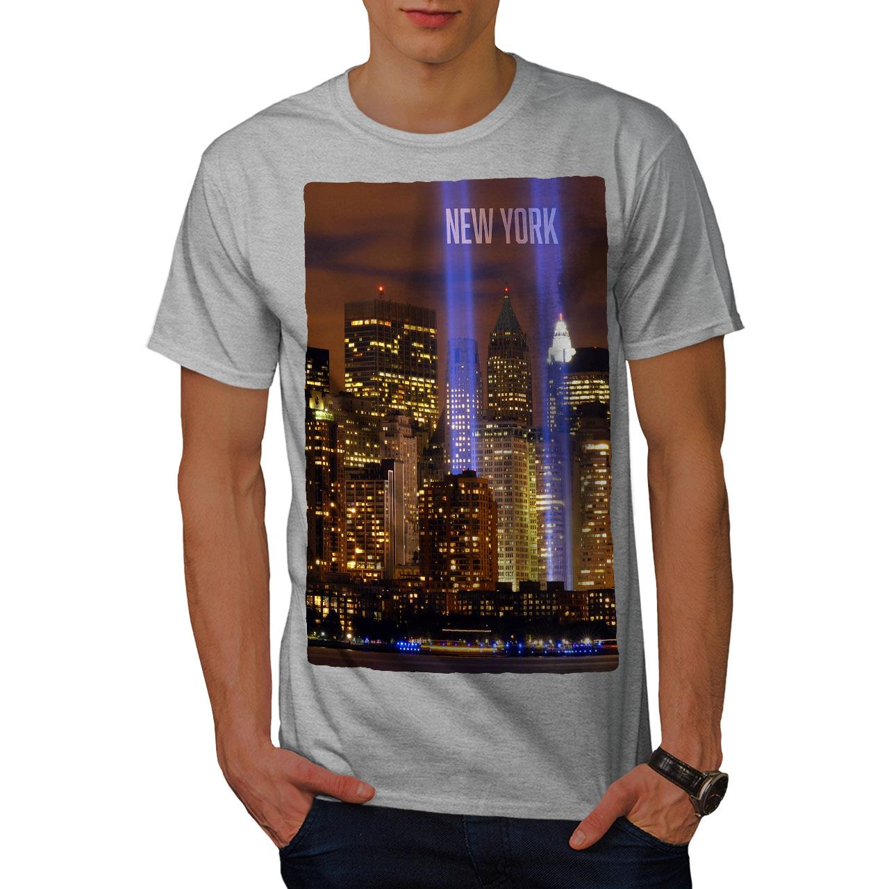 Wellcoda New York City Life Mens T Shirt Urban Art Graphic Design