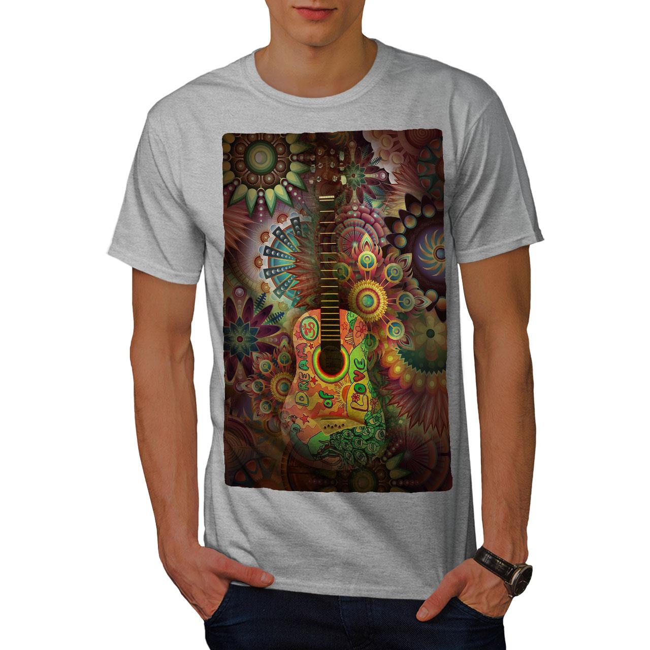 Wellcoda-Colorful-Guitar-Mens-T-shirt-Music-Graphic-Design-Printed-Tee thumbnail 15