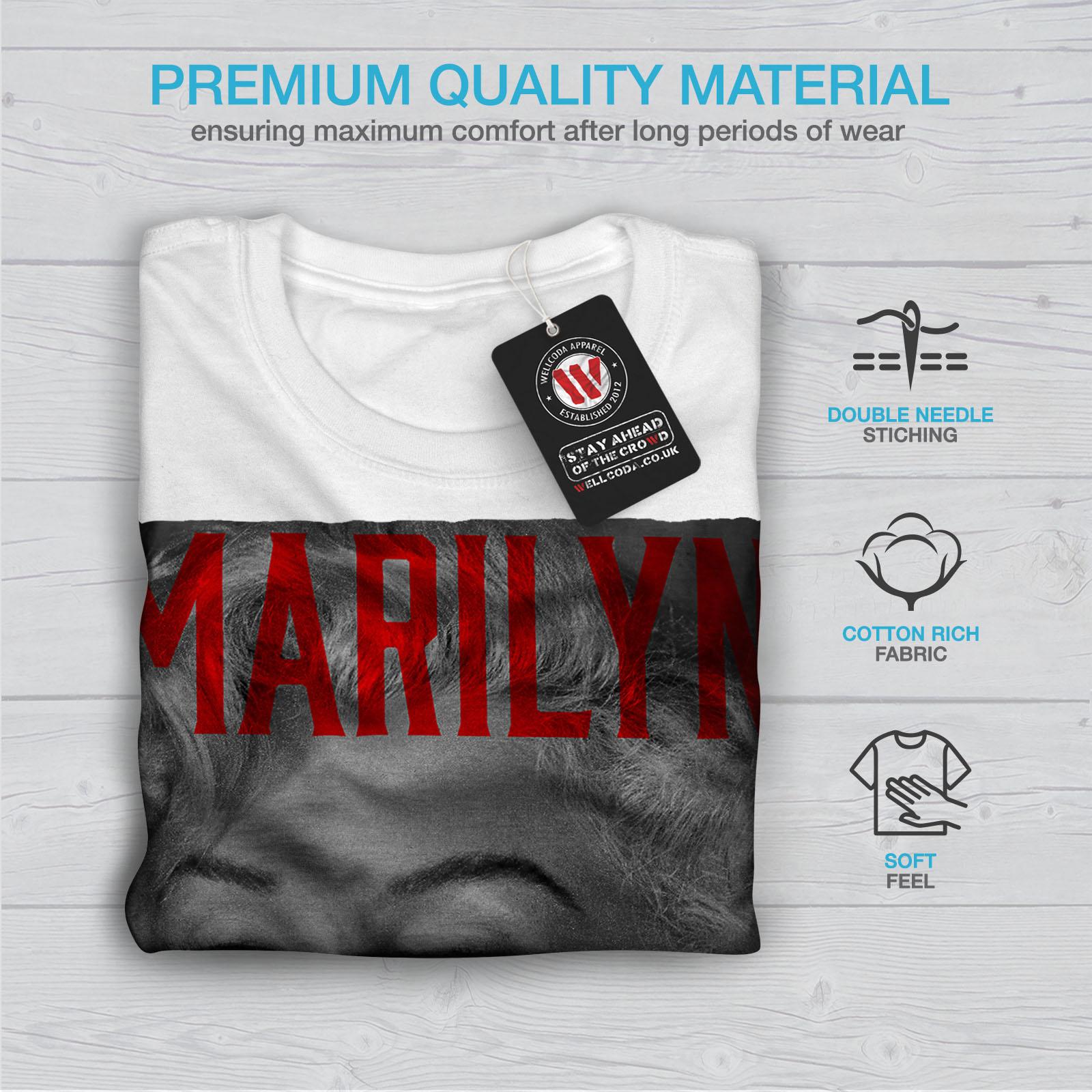 Wellcoda-Marilyn-Retro-Photo-Mens-T-shirt-Urban-Graphic-Design-Printed-Tee thumbnail 13