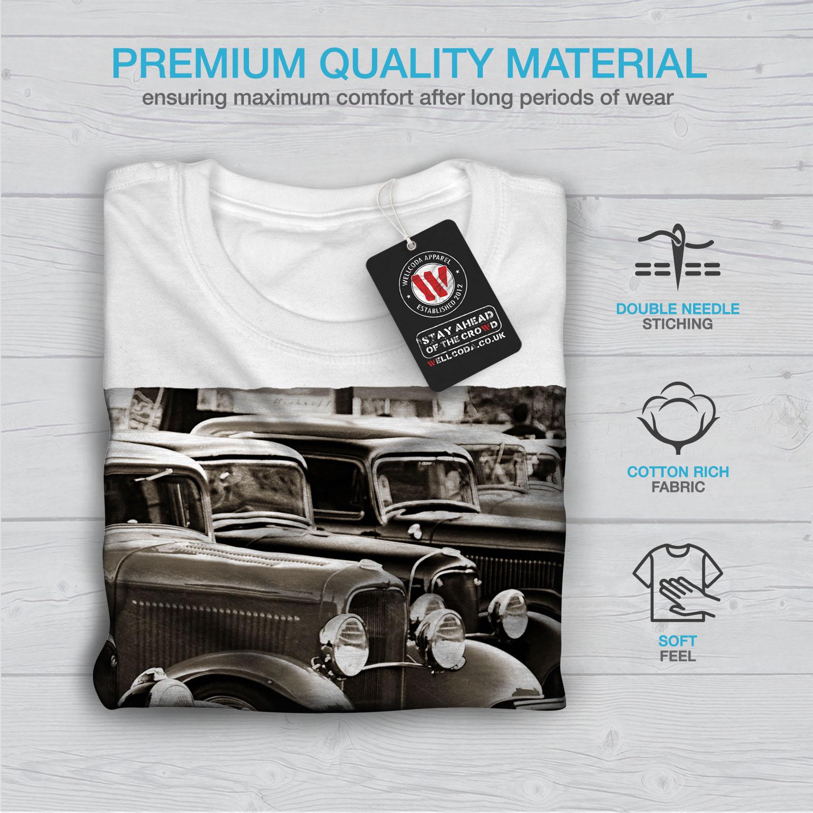 Wellcoda-Classic-Cars-Mens-T-shirt-Retro-Graphic-Design-Printed-Tee thumbnail 13