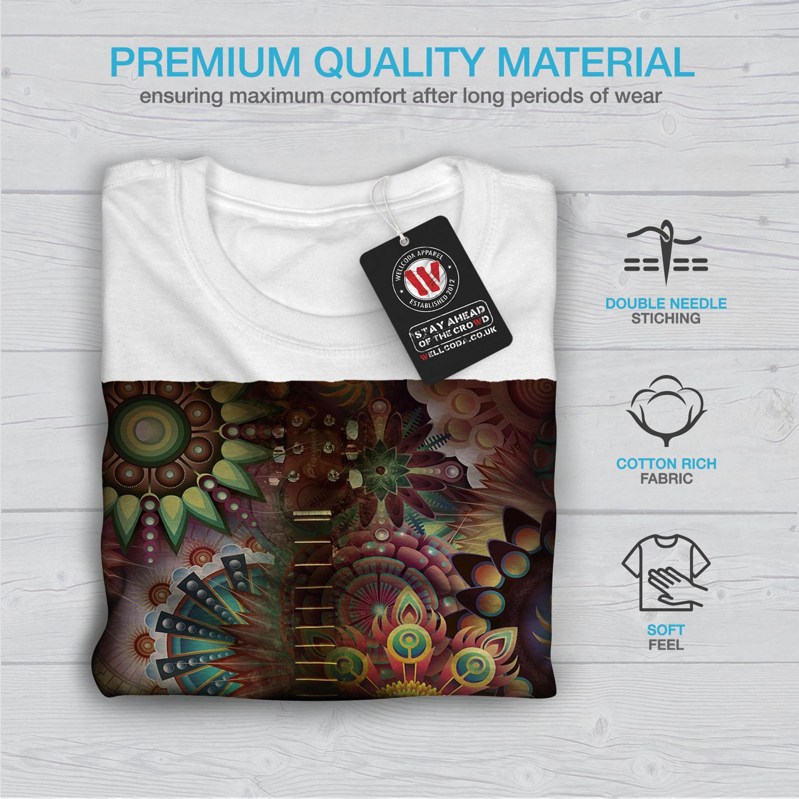 Wellcoda-Colorful-Guitar-Mens-T-shirt-Music-Graphic-Design-Printed-Tee thumbnail 13