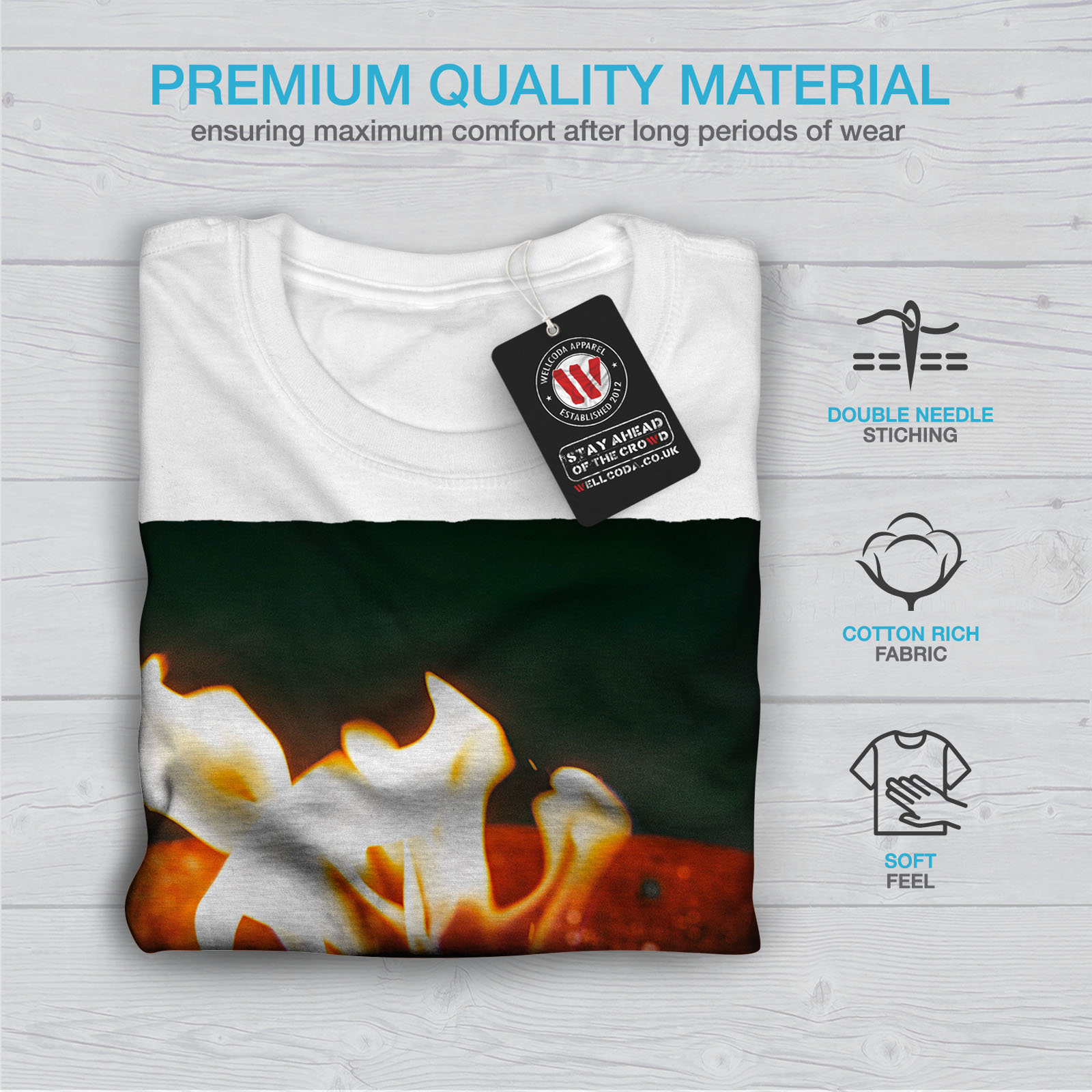 7c9872977 Wellcoda Fire Camp Flame Nature Mens T-shirt, Small Graphic Design ...