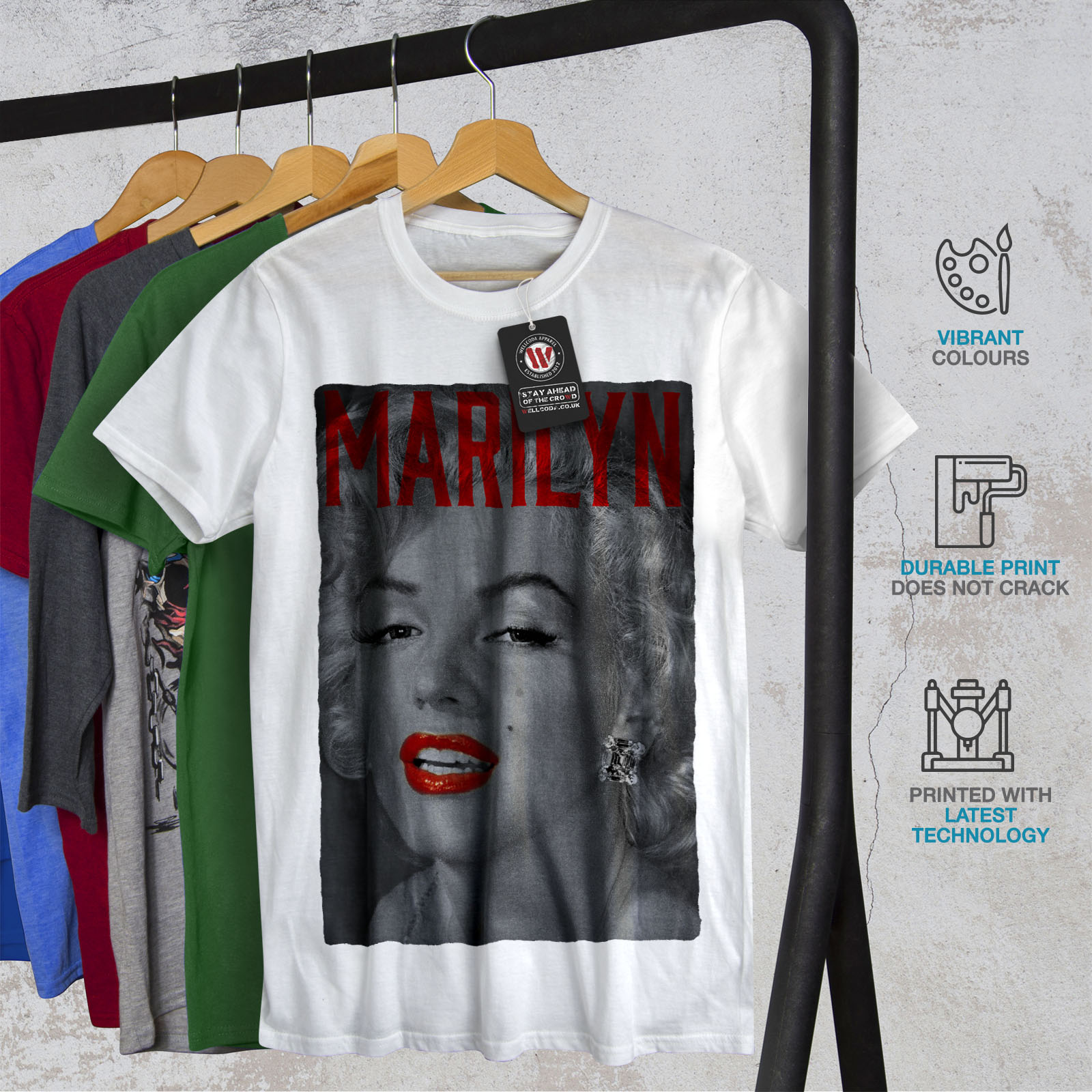 Wellcoda-Marilyn-Retro-Photo-Mens-T-shirt-Urban-Graphic-Design-Printed-Tee thumbnail 12