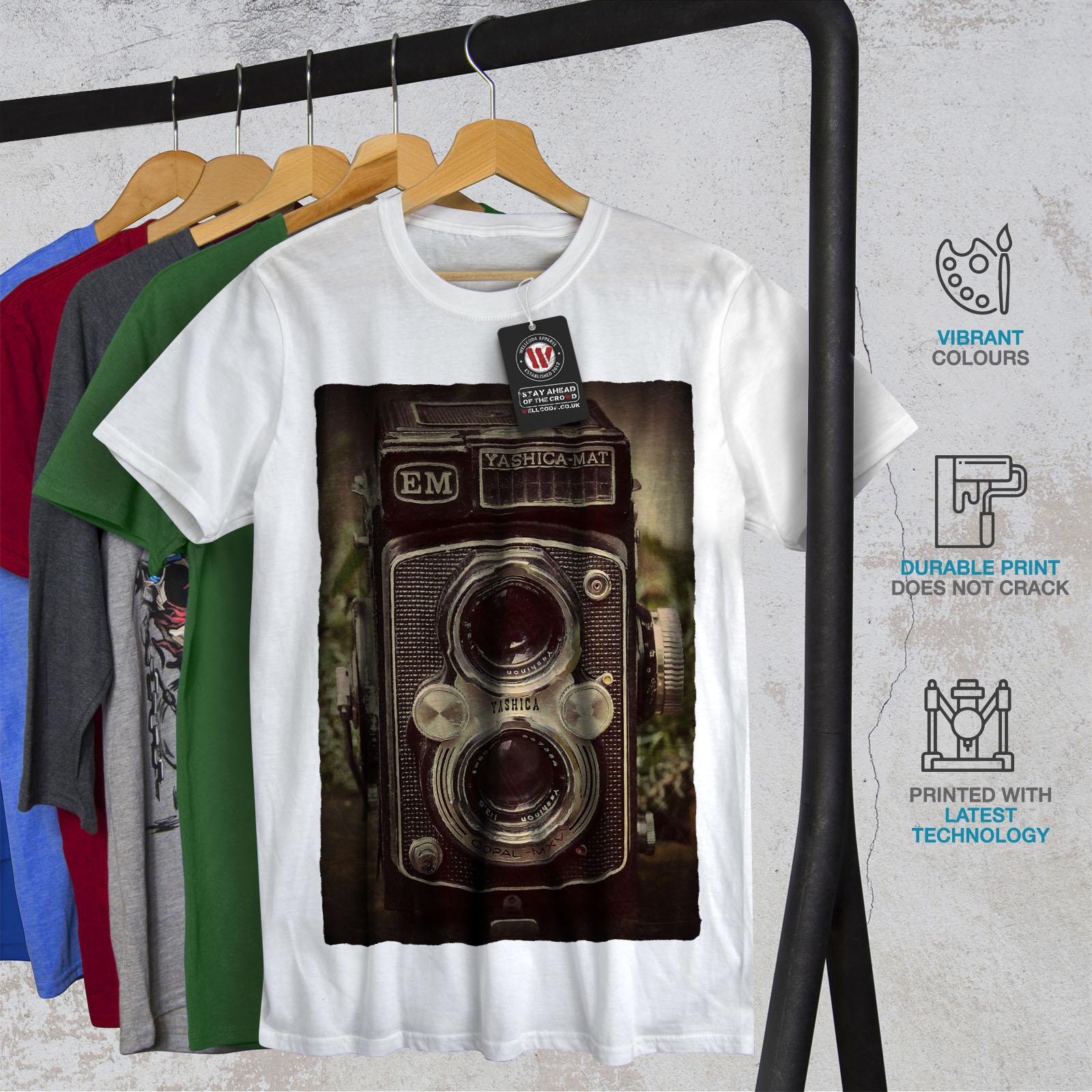 Wellcoda-Old-Foto-Camera-Mens-T-shirt-Retro-Graphic-Design-Printed-Tee thumbnail 12
