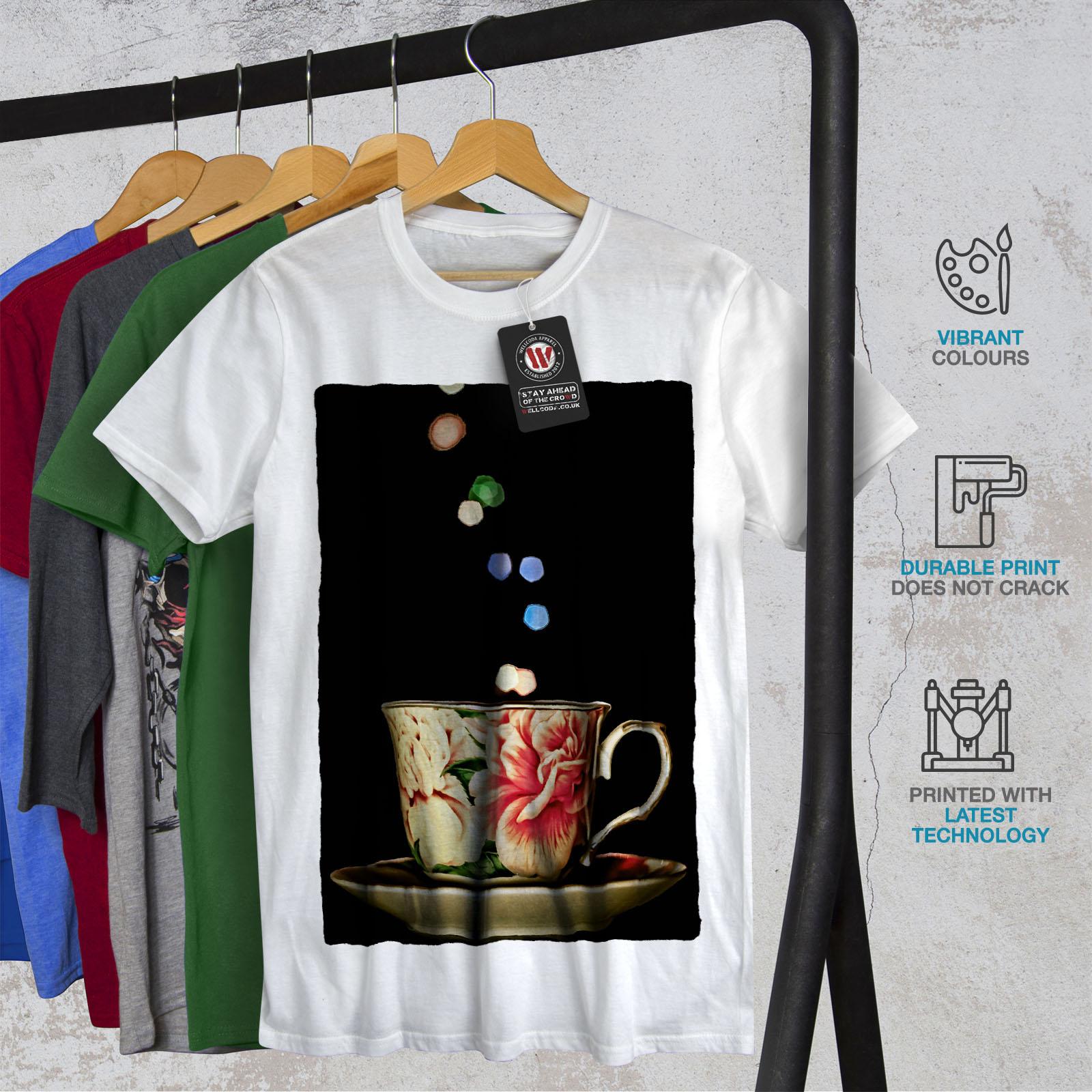 Wellcoda-Tea-Cup-Retro-Old-Mens-T-shirt-Smell-Graphic-Design-Printed-Tee thumbnail 12