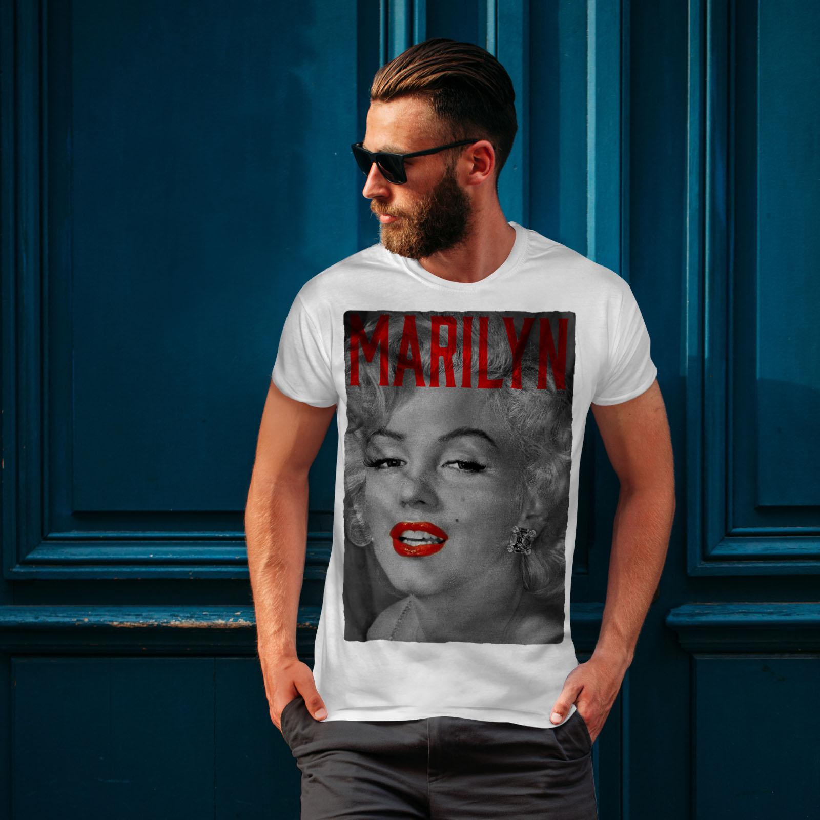 Wellcoda-Marilyn-Retro-Photo-Mens-T-shirt-Urban-Graphic-Design-Printed-Tee thumbnail 10