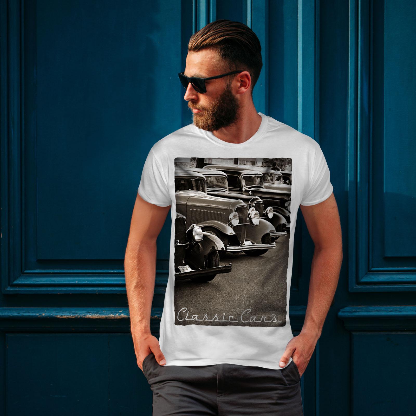 Wellcoda-Classic-Cars-Mens-T-shirt-Retro-Graphic-Design-Printed-Tee thumbnail 10