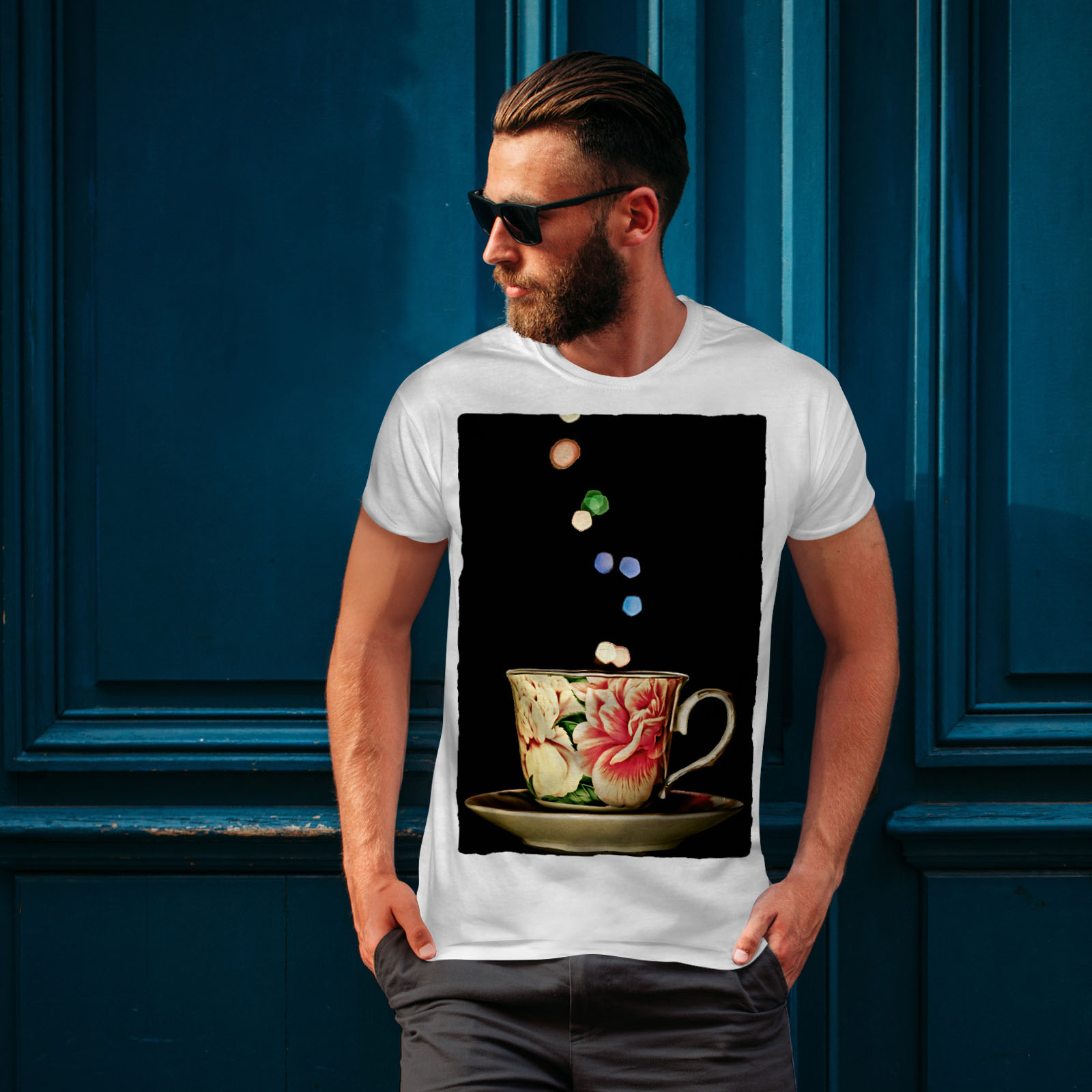 Wellcoda-Tea-Cup-Retro-Old-Mens-T-shirt-Smell-Graphic-Design-Printed-Tee thumbnail 10
