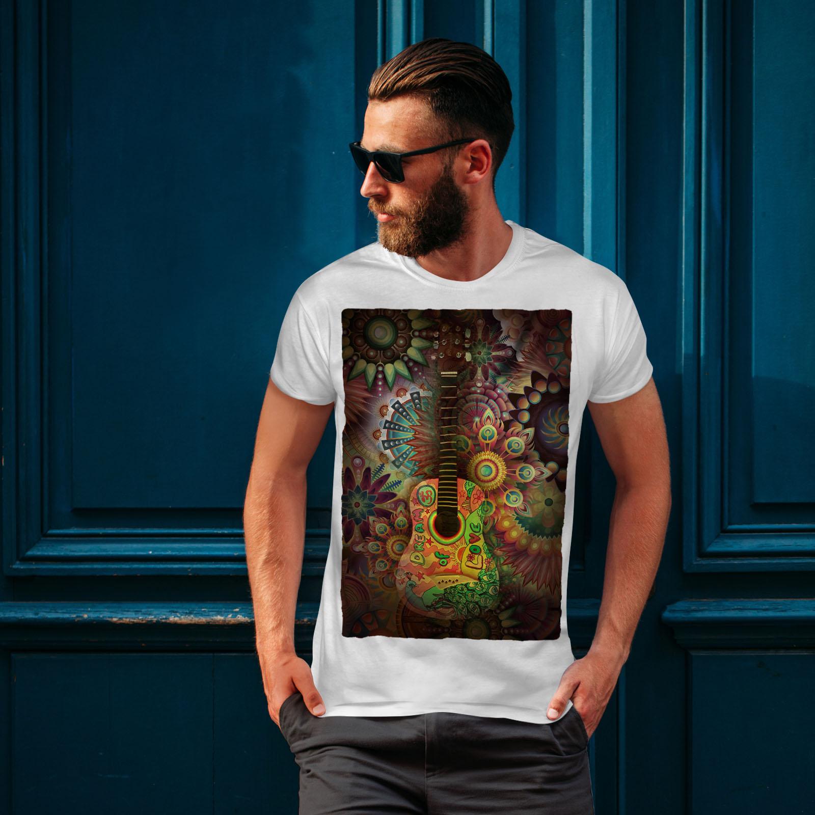 Wellcoda-Colorful-Guitar-Mens-T-shirt-Music-Graphic-Design-Printed-Tee thumbnail 10
