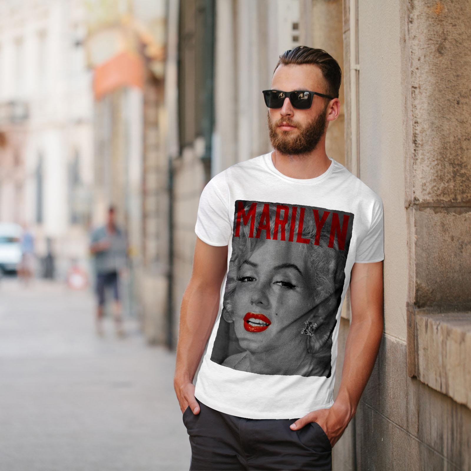 Wellcoda-Marilyn-Retro-Photo-Mens-T-shirt-Urban-Graphic-Design-Printed-Tee thumbnail 11