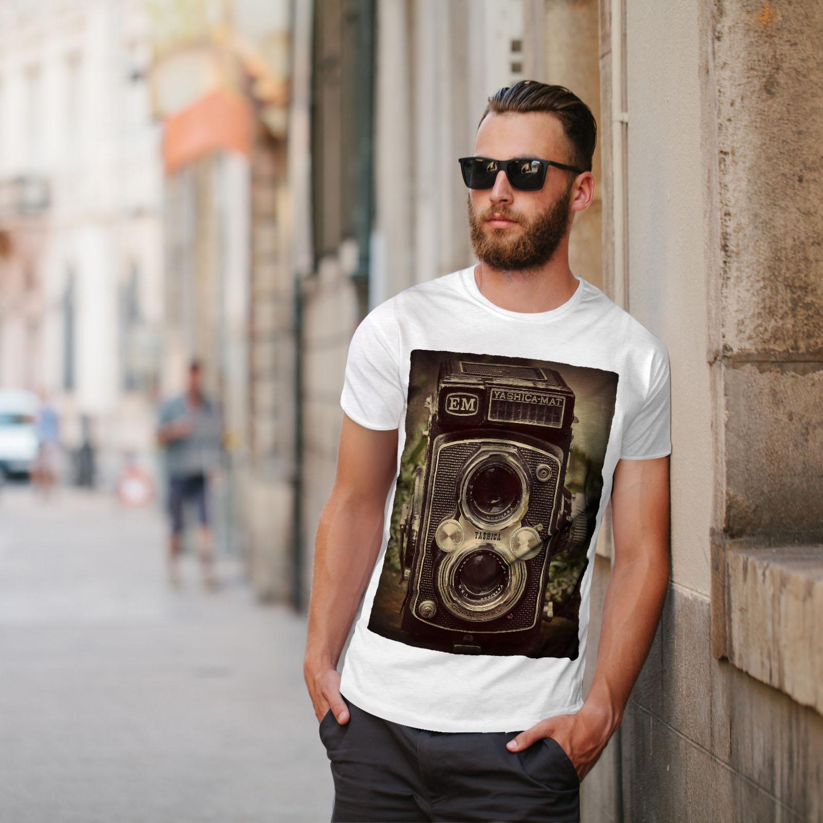 Wellcoda-Old-Foto-Camera-Mens-T-shirt-Retro-Graphic-Design-Printed-Tee thumbnail 11