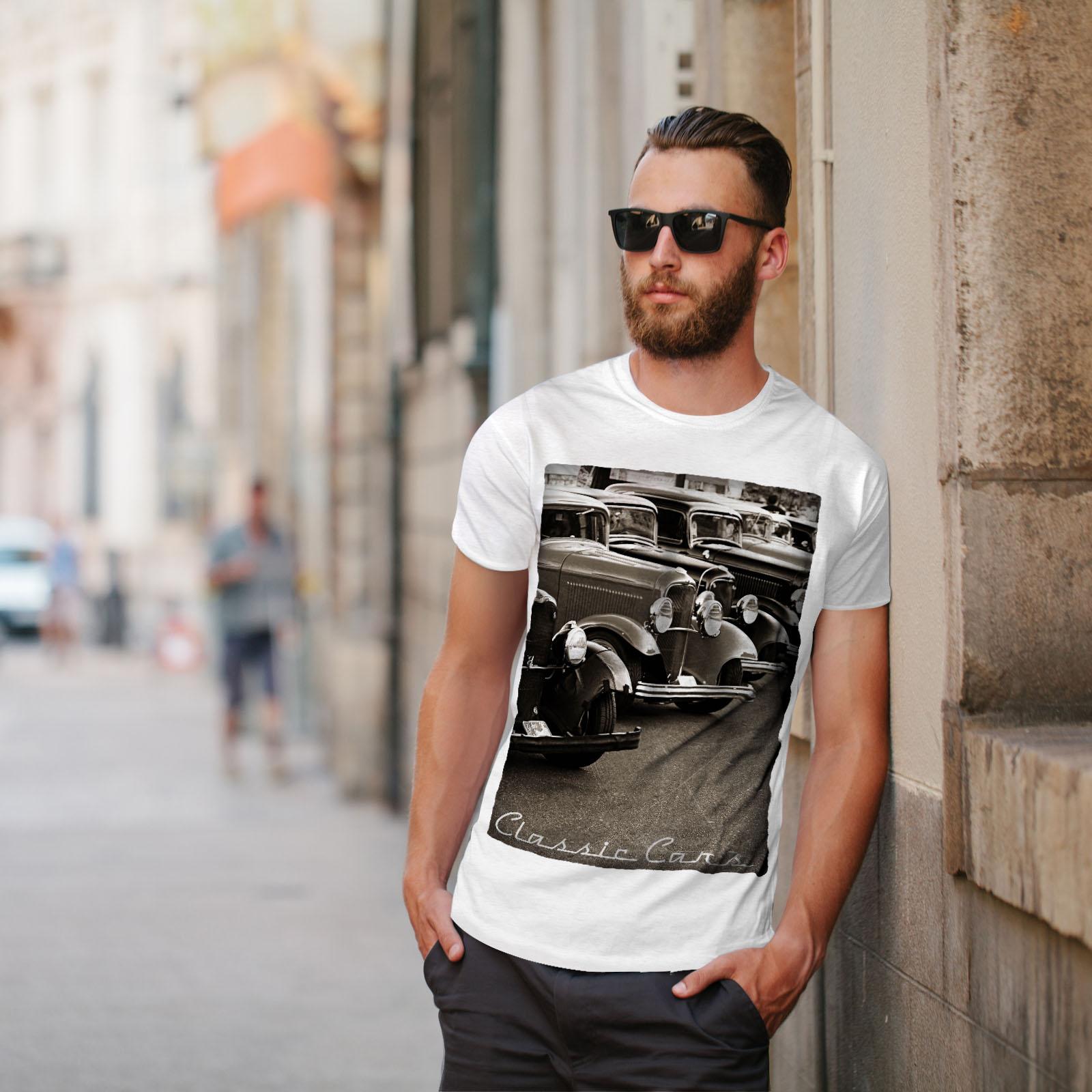 Wellcoda-Classic-Cars-Mens-T-shirt-Retro-Graphic-Design-Printed-Tee thumbnail 11