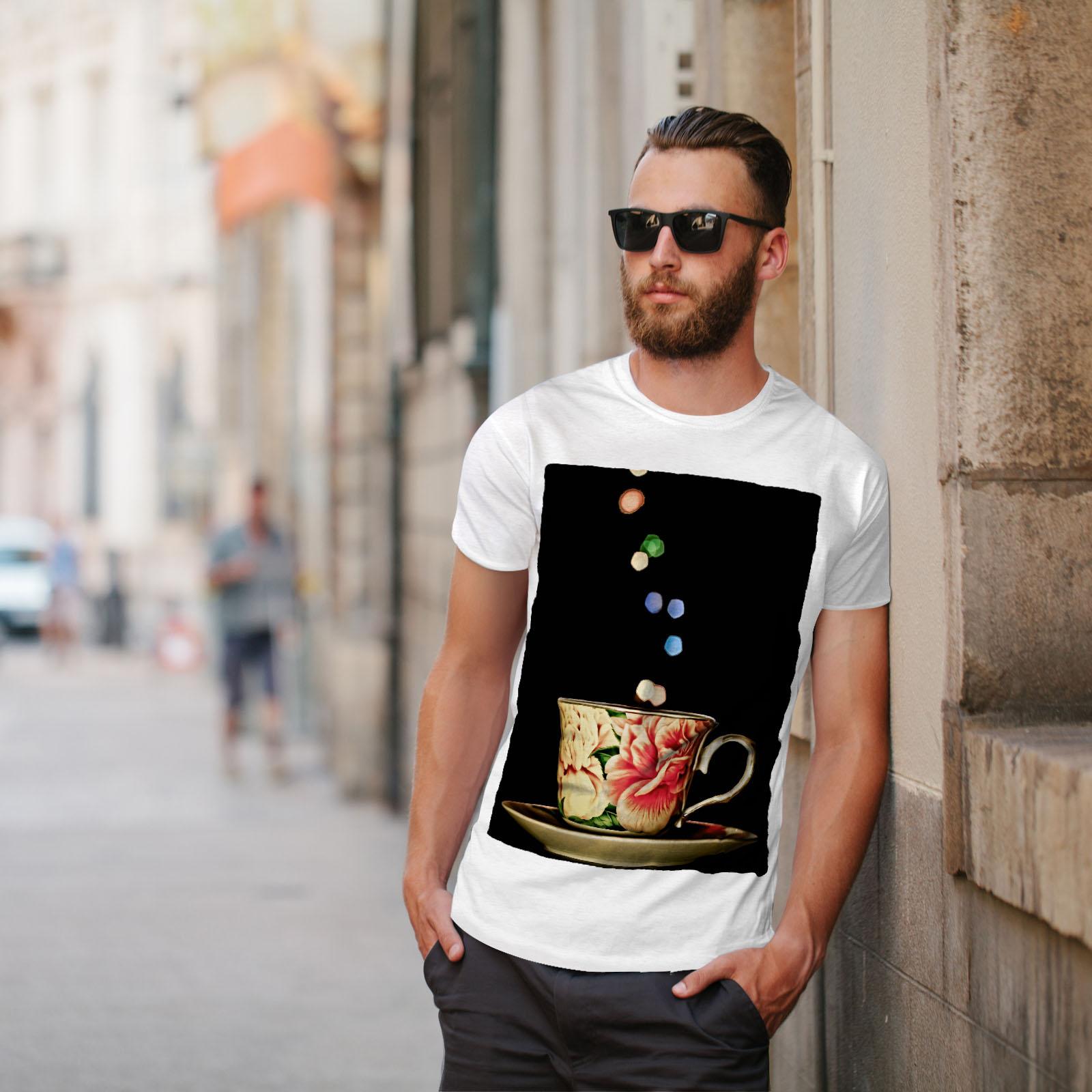 Wellcoda-Tea-Cup-Retro-Old-Mens-T-shirt-Smell-Graphic-Design-Printed-Tee thumbnail 11