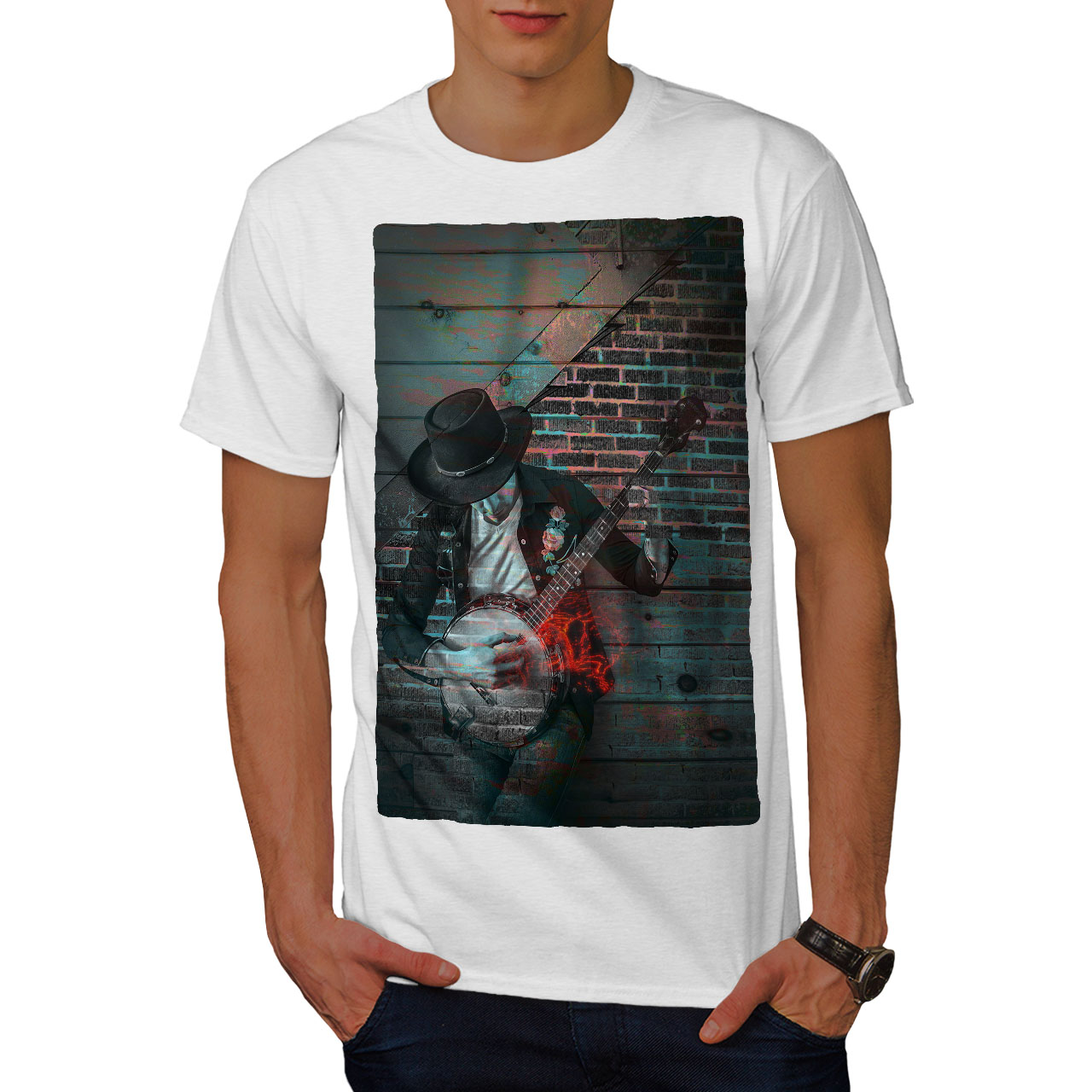 Wellcoda Street Art Graffiti Mens T-shirt American Graphic Design Printed Tee