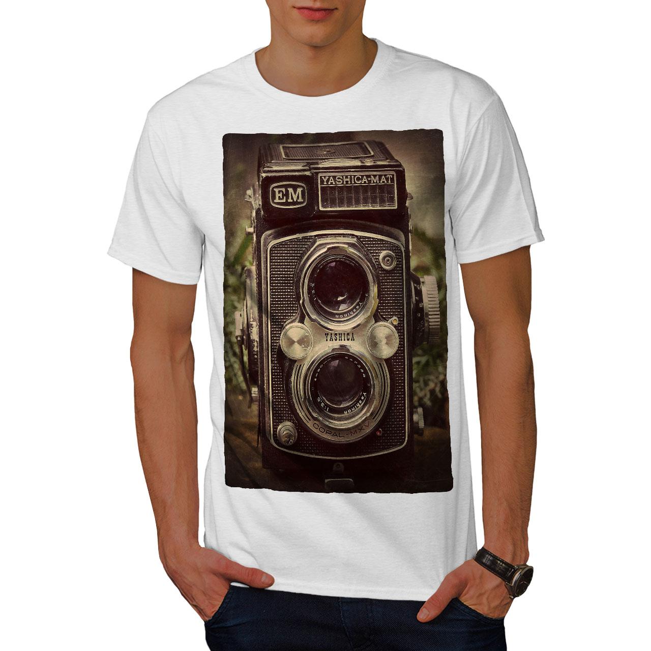 Wellcoda-Old-Foto-Camera-Mens-T-shirt-Retro-Graphic-Design-Printed-Tee thumbnail 9