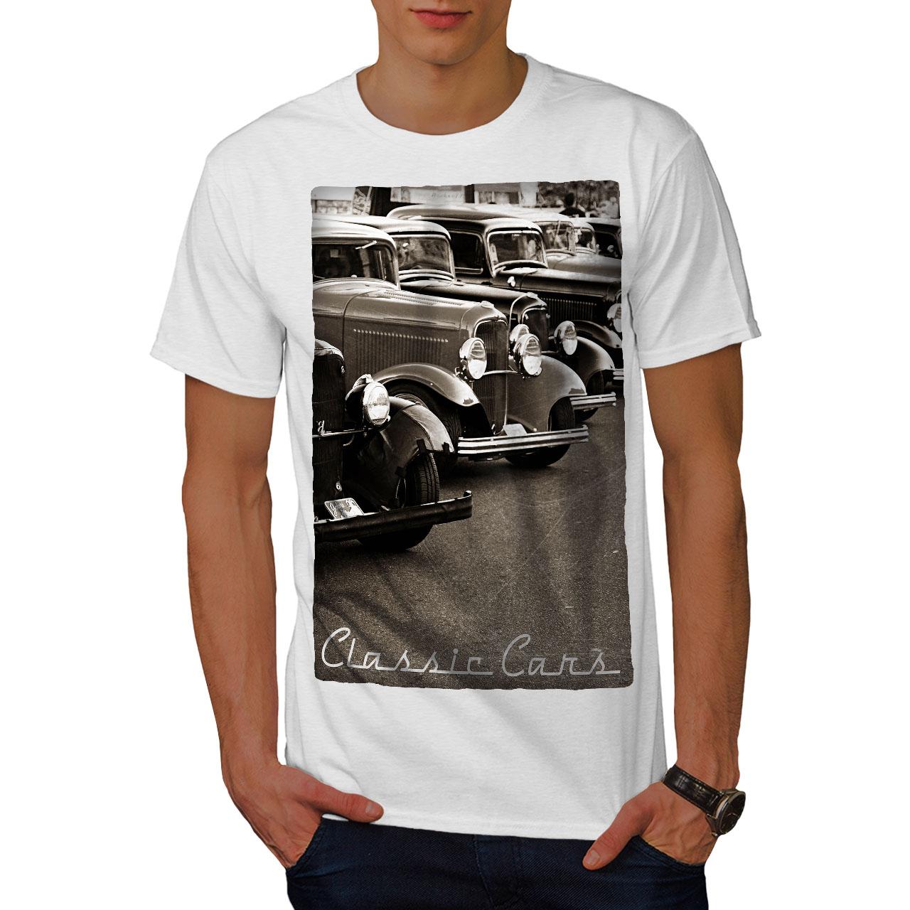 Wellcoda-Classic-Cars-Mens-T-shirt-Retro-Graphic-Design-Printed-Tee thumbnail 9
