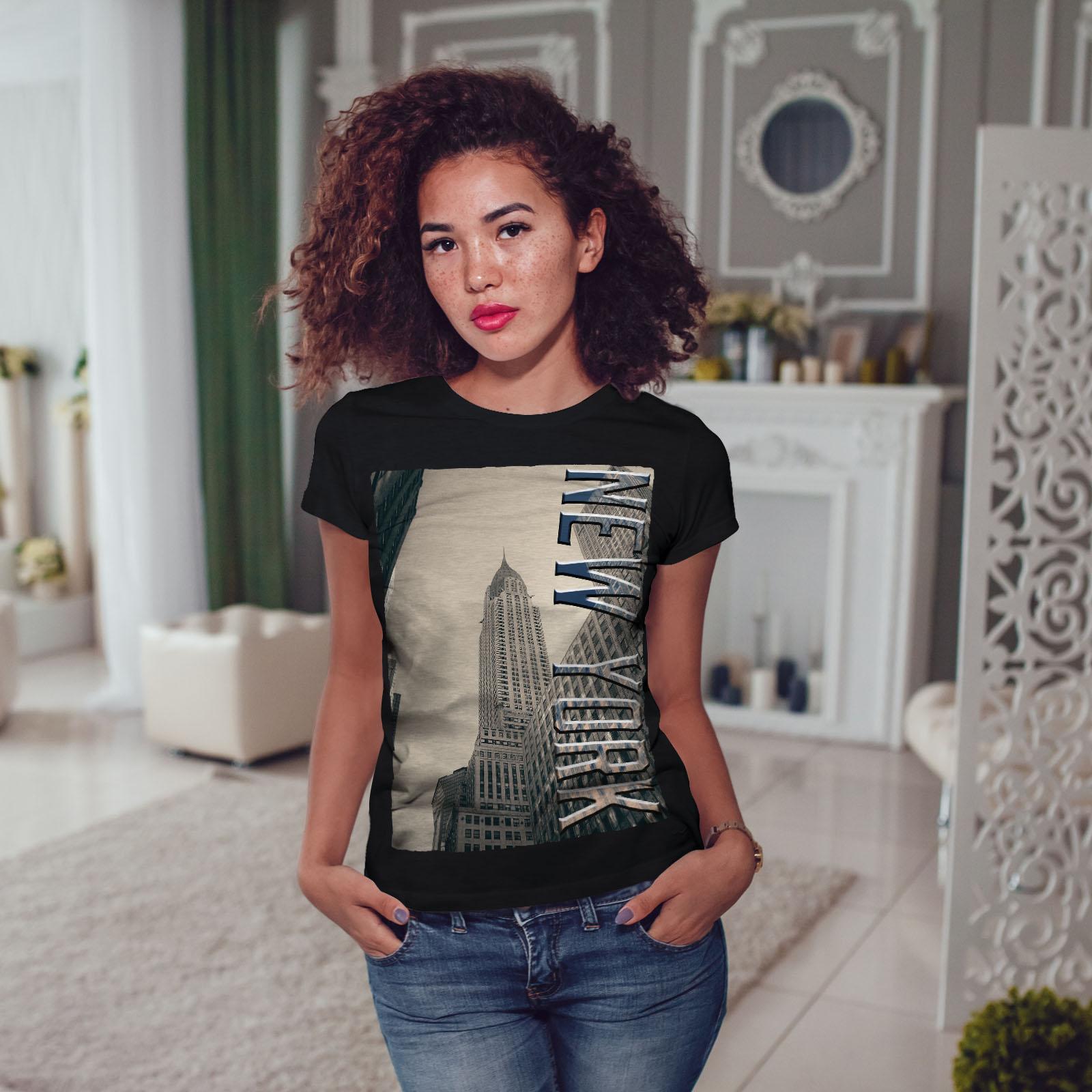 Wellcoda City Fashion New Womens T-shirt Building Casual Design Printed Tee