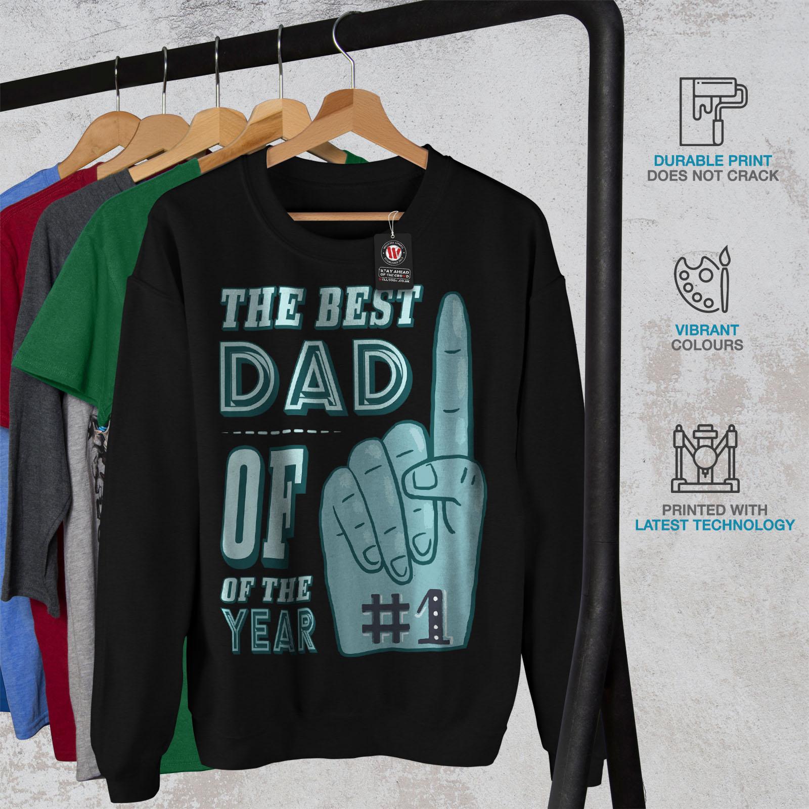 papa Sweatshirt Jumper de Décontracté Meilleur Wellcoda cadeau HommeAnniversaire Noir Pullover 8OPkn0NwXZ