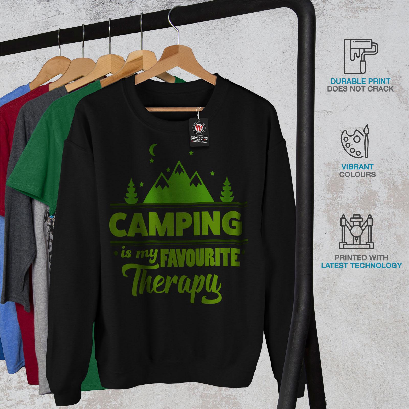 da Therapy uomo Camping Casual Outdoor Felpa Wellcoda Pullover Nero Pullover ZxSqHHd