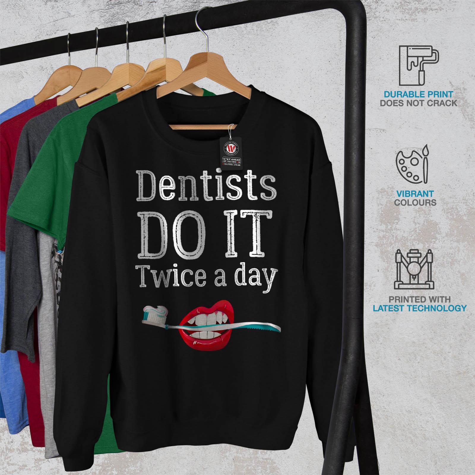 dr Sweatshirt jour des dentistes dᄄᆭcontractᄄᆭ deux noir par le Wellcodapull fois QCsthrxBd