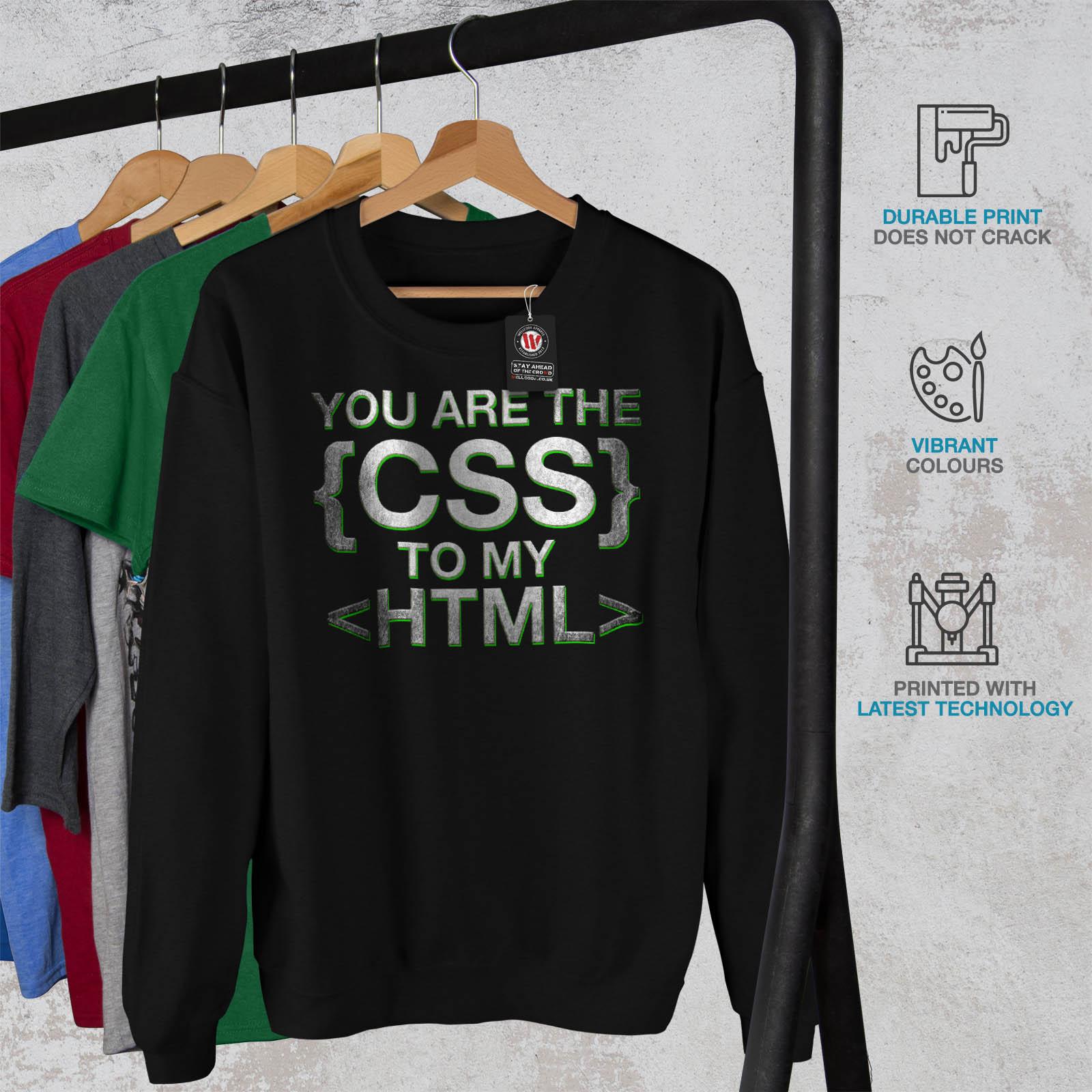 Pullover Mens Html Casual Programmer Wellcoda Black Geek Jumper Css Sweatshirt 7HwTAnUqp