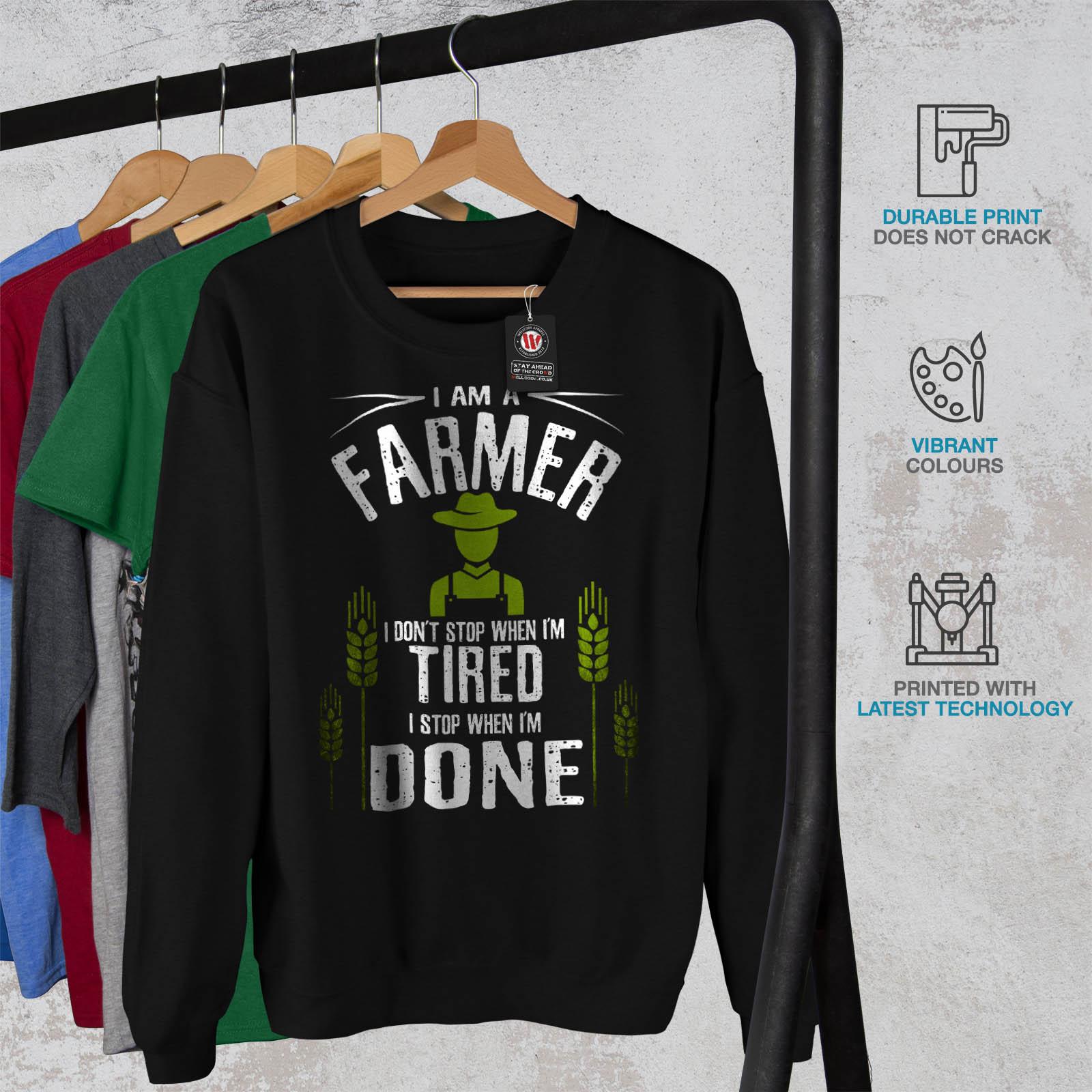 Job uomo Stop da quando Pullover Wellcoda casual Pullover I nero fatto Farmer Felpa tYq5TBx