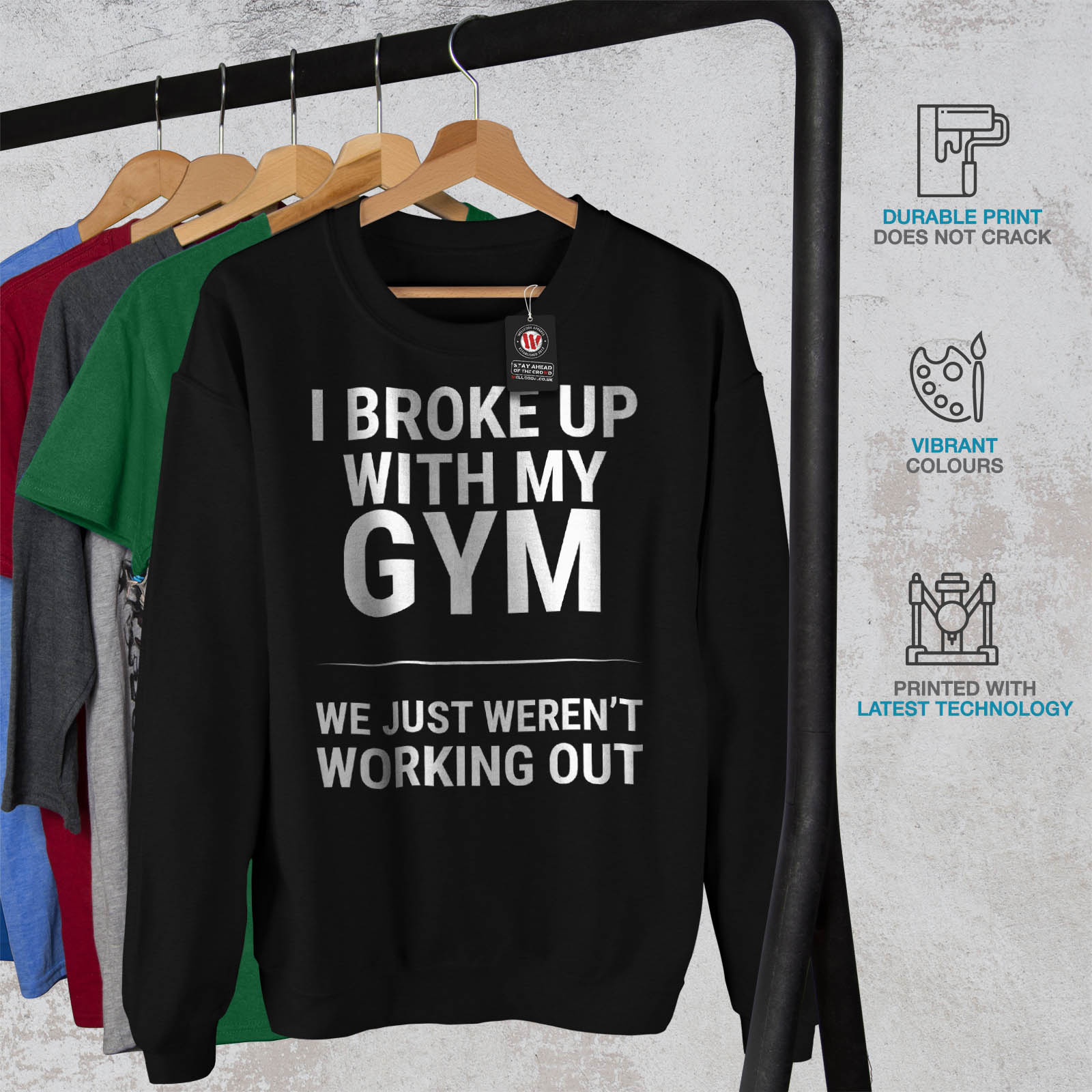 Pull Nero Sweat Mens ShirtPullover Sarcastic Gym Funny Casual Wellcoda IYHWe29bDE