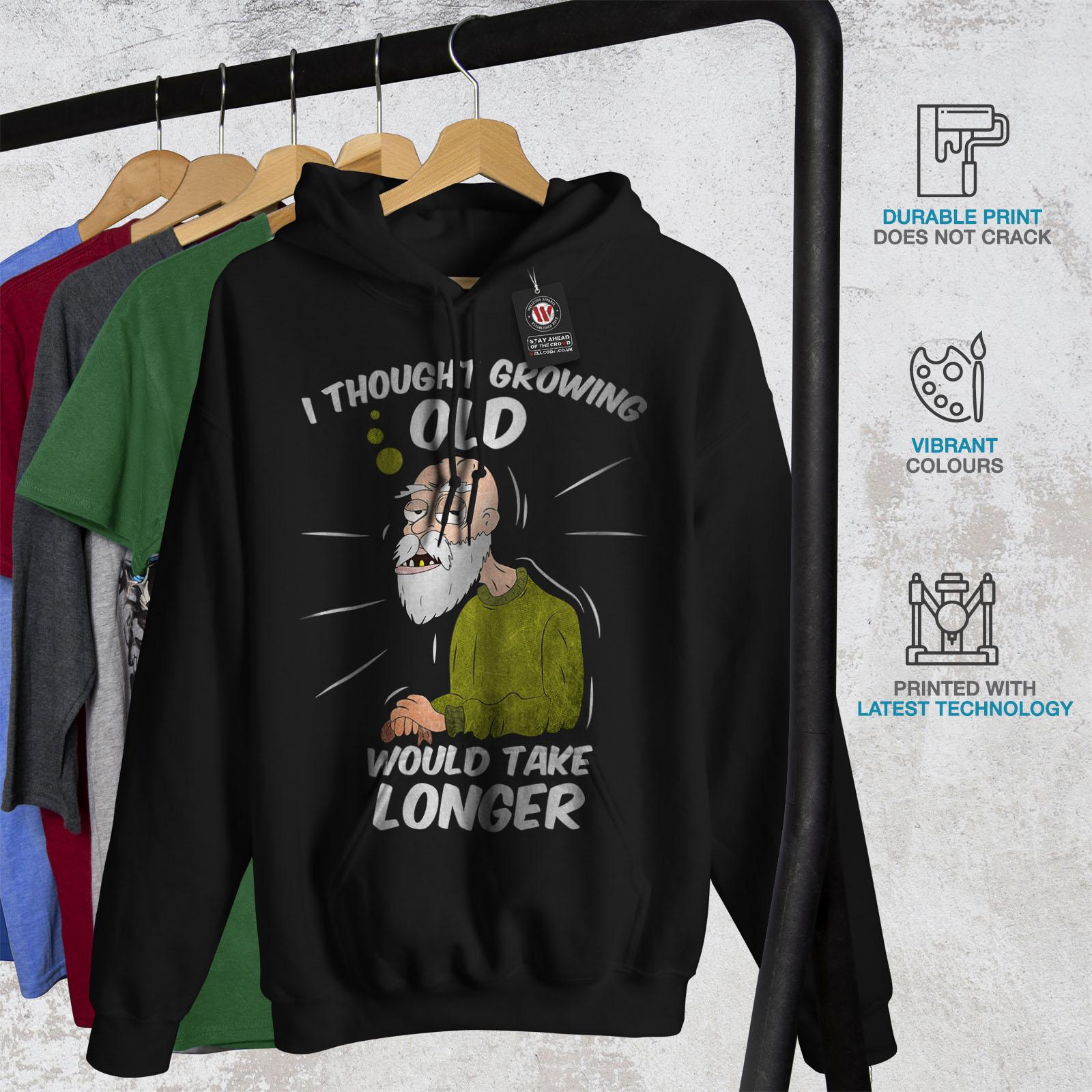 Black Gift Hooded Hoodie Funny Old Man Retired Casual Sweatshirt Wellcoda Mens vHWqUxfFxw