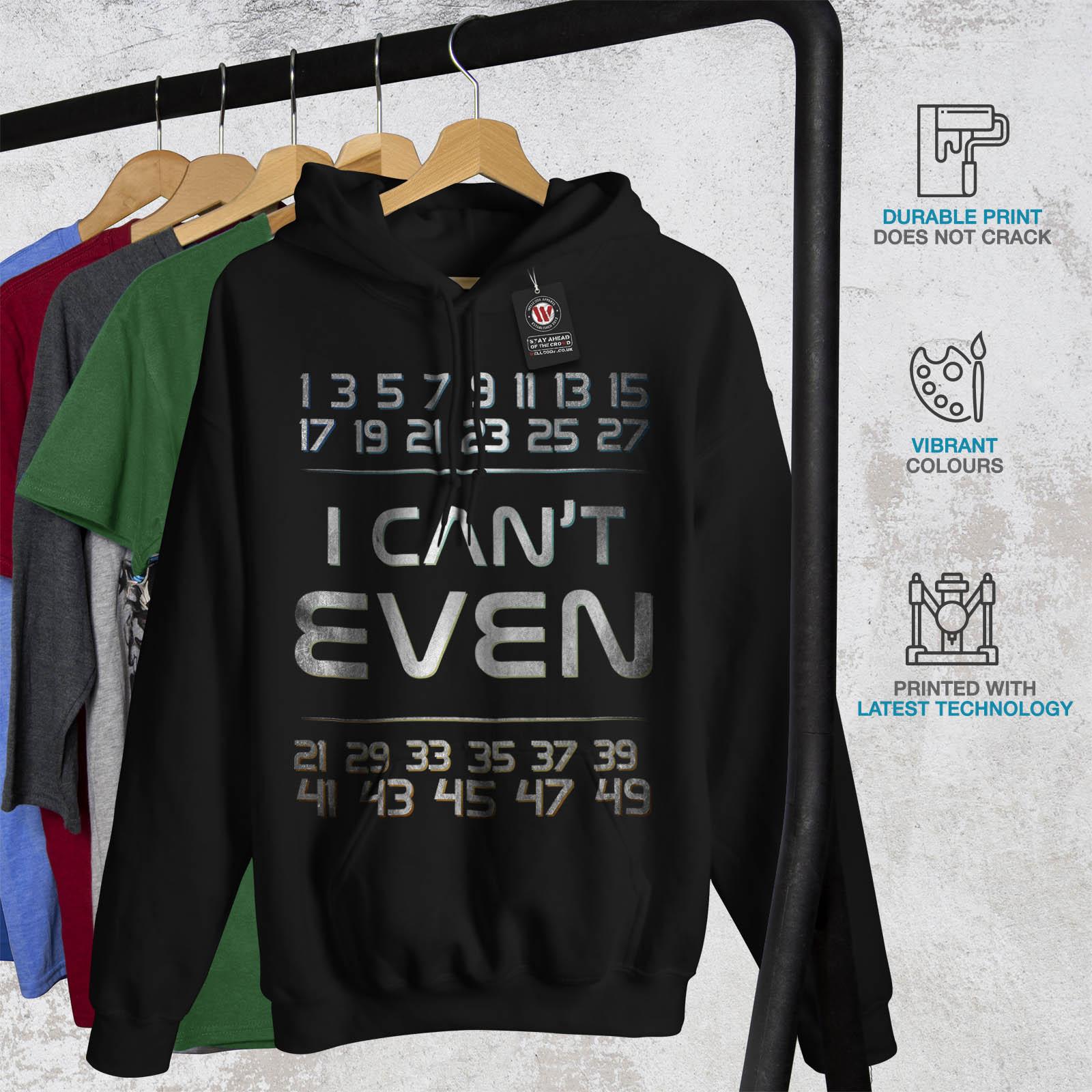 Geek con Numbers Math cappuccio Felpa casual Wellcoda divertente da nera cappuccio Felpa con uomo dI1xwd