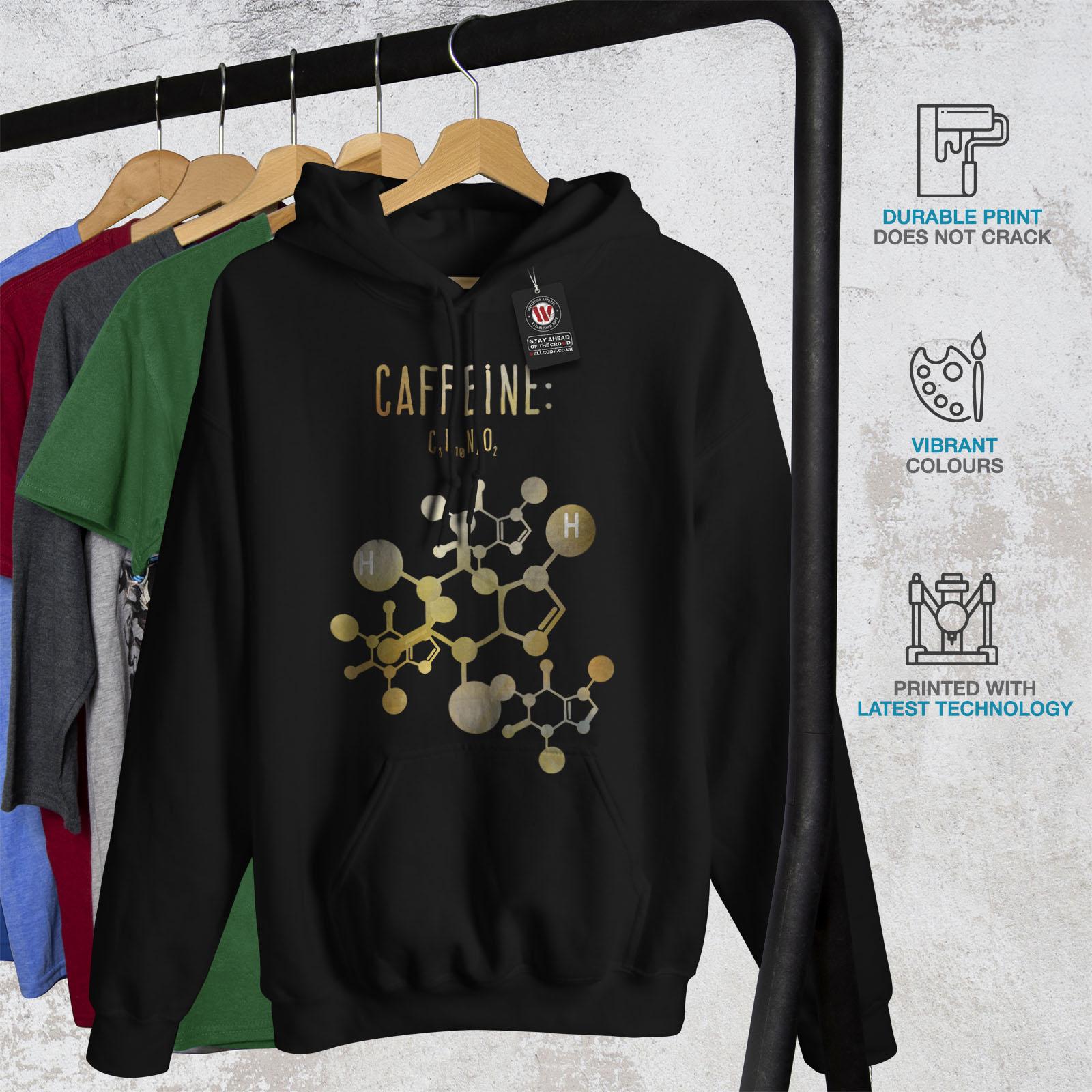 nera con Caffeine uomo Formula Of felpa studente cappuccio Wellcoda casual Felpa da da Cqw17cF