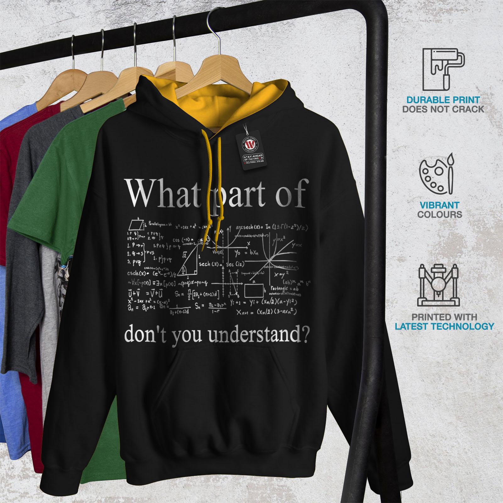 Hood Hoodie Contrast Math gold Black Men New Hard q406twn