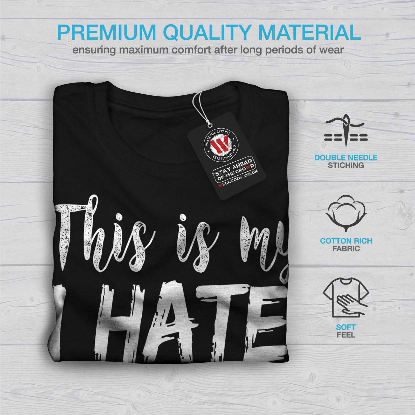 Wellcoda-hasse-alle-heute-Herren-T-Shirt-lustige-Grafikdesign-Printed-Tee Indexbild 7