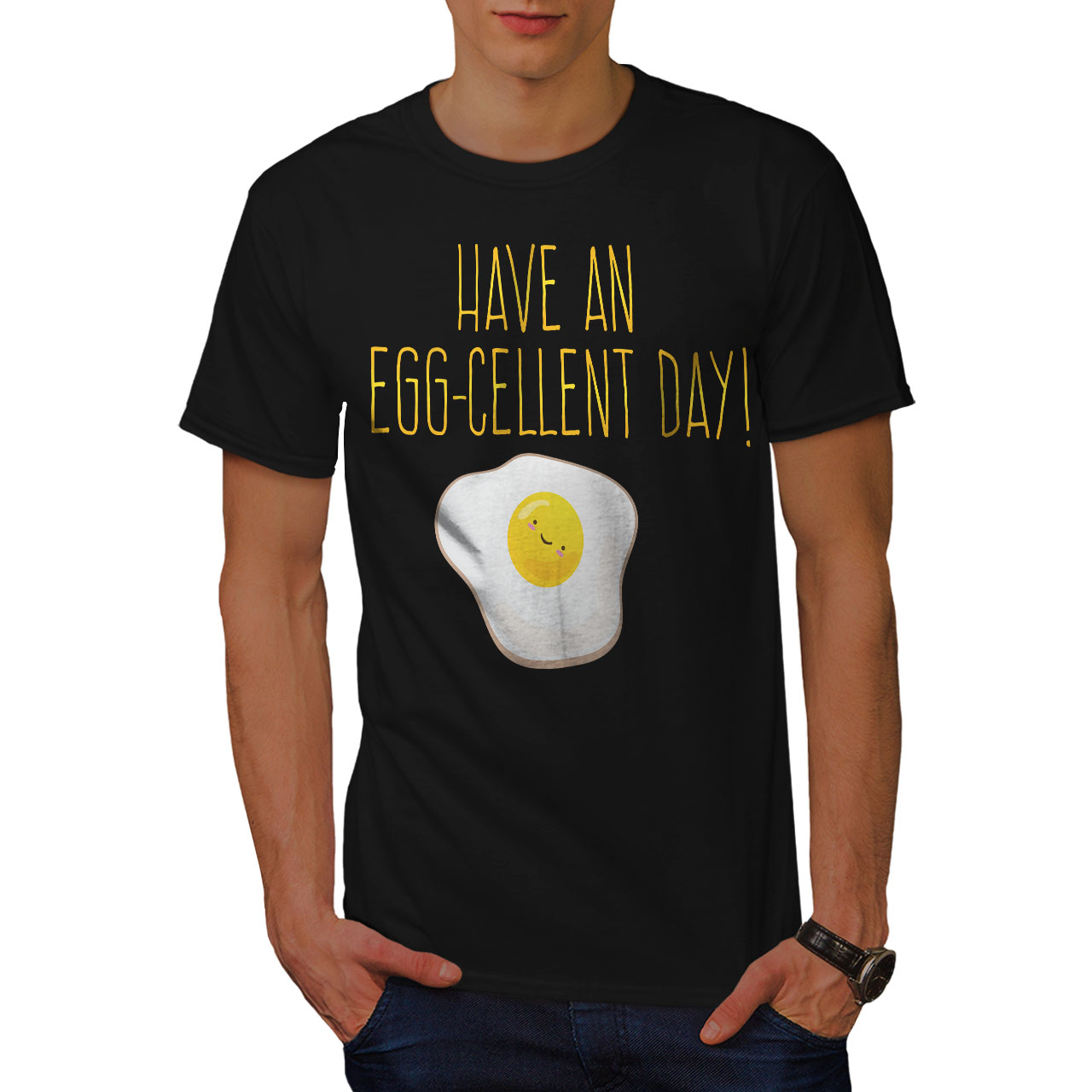 Excellent Graphic Design Printed Tee Wellcoda Positive Egg Mens T-shirt