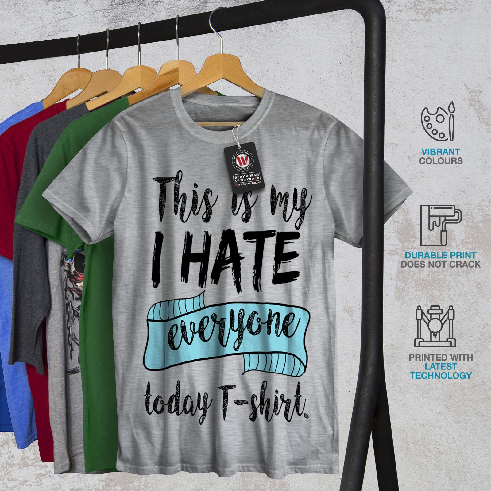 Wellcoda-hasse-alle-heute-Herren-T-Shirt-lustige-Grafikdesign-Printed-Tee Indexbild 18