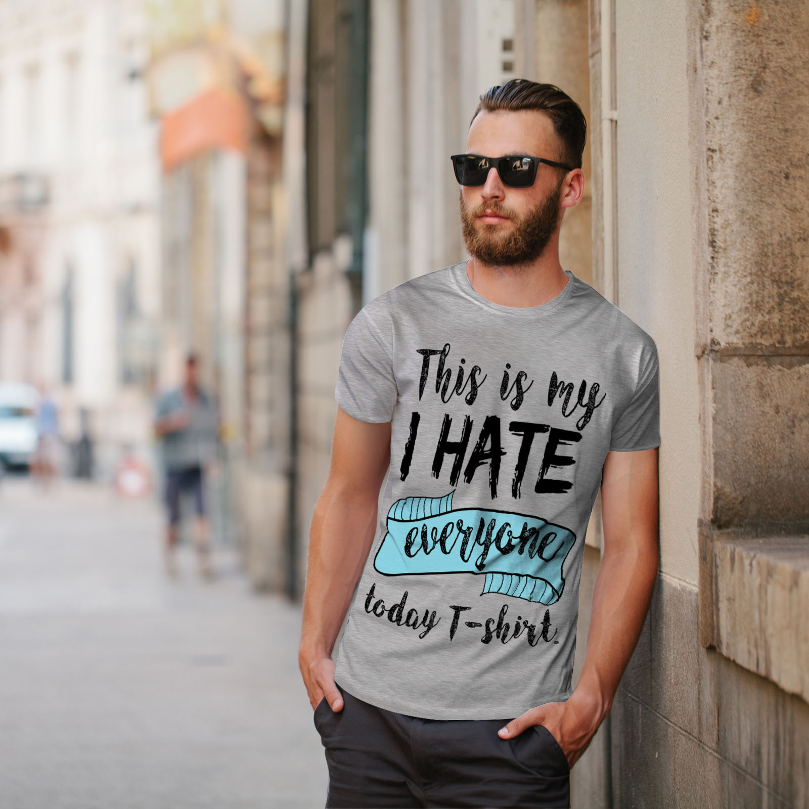 Wellcoda-hasse-alle-heute-Herren-T-Shirt-lustige-Grafikdesign-Printed-Tee Indexbild 17