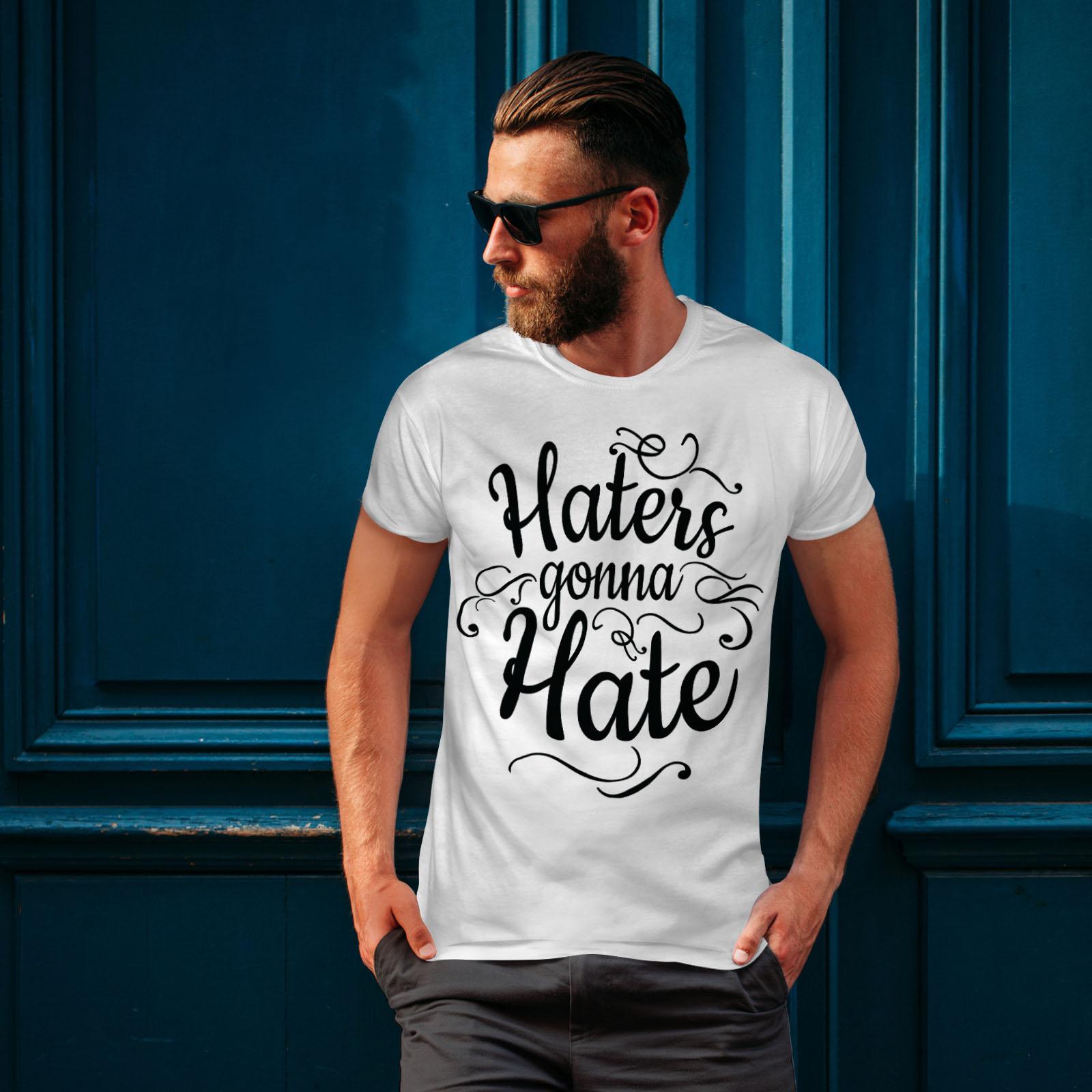 Wellcoda-Hasser-Gonna-Hate-Herren-T-Shirt-lustige-Grafikdesign-Printed-Tee Indexbild 10