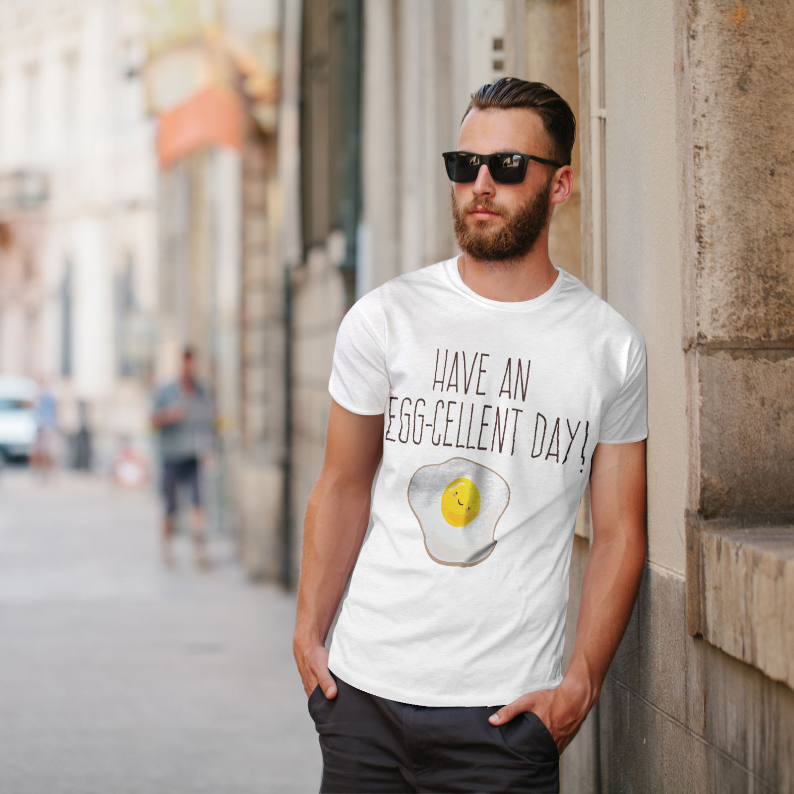 ottimo design grafico stampato T-shirt Wellcoda UOVO Positivo Da Uomo T-shirt
