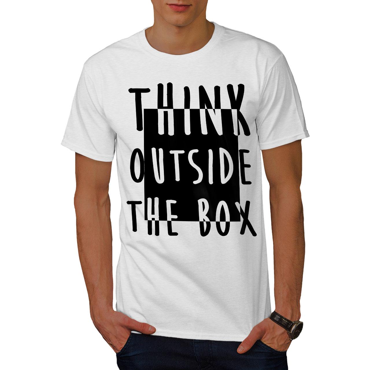 Wellcoda Think Outside Mens T-shirt Wisdom Box Graphic Design Printed Tee
