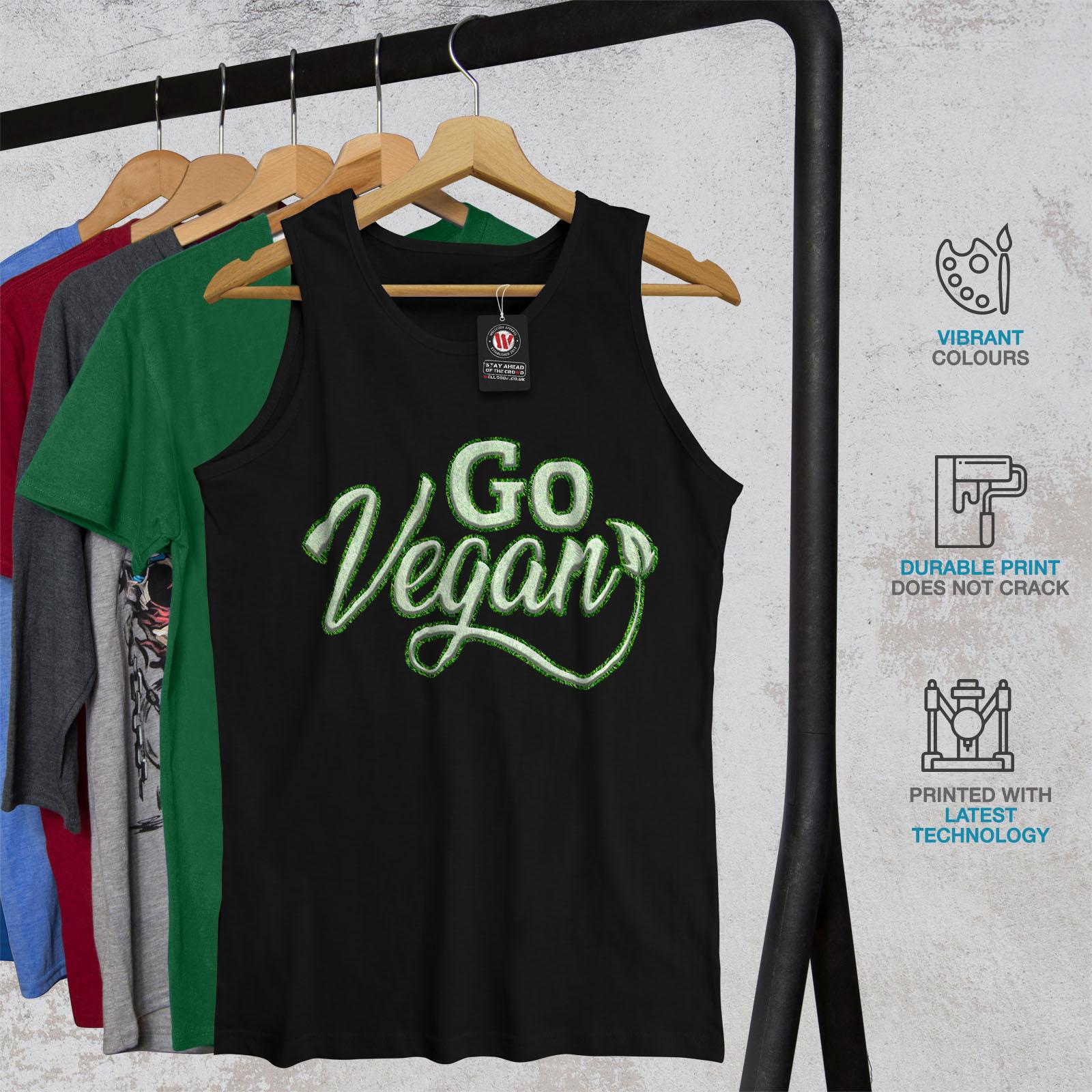 wellcoda Go Vegan Mens Sweatshirt Vegetarian Green Casual Jumper