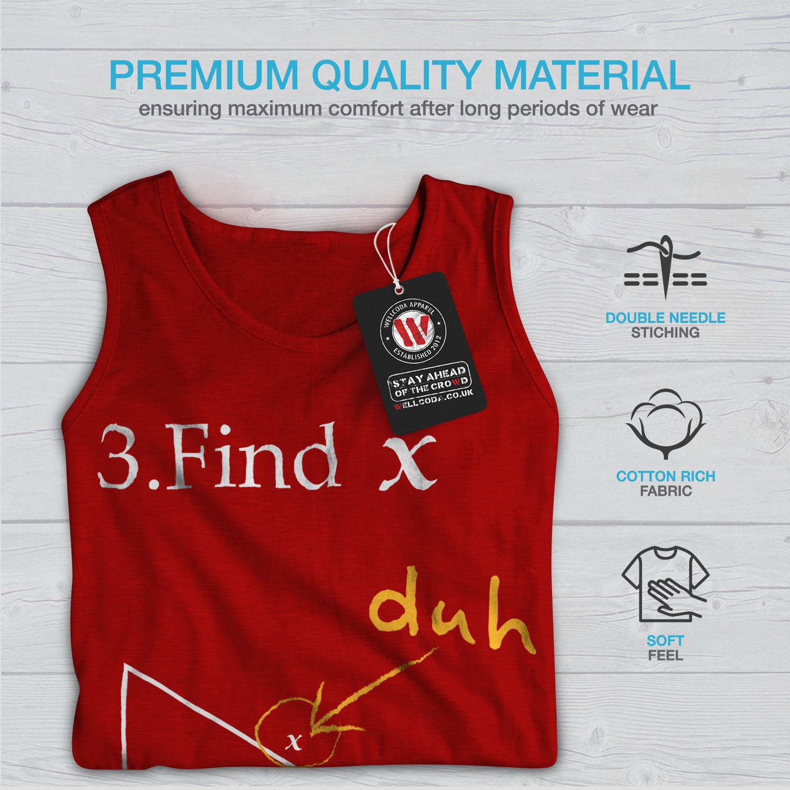 Wellcoda-trouver-X-Homme-Tank-Top-Drole-Math-Active-Sports-Shirt miniature 9