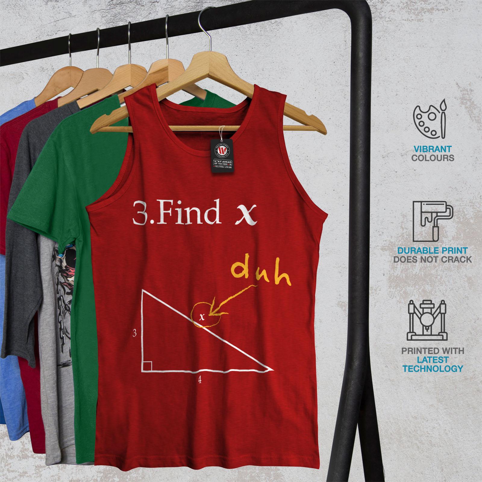 Wellcoda-trouver-X-Homme-Tank-Top-Drole-Math-Active-Sports-Shirt miniature 8