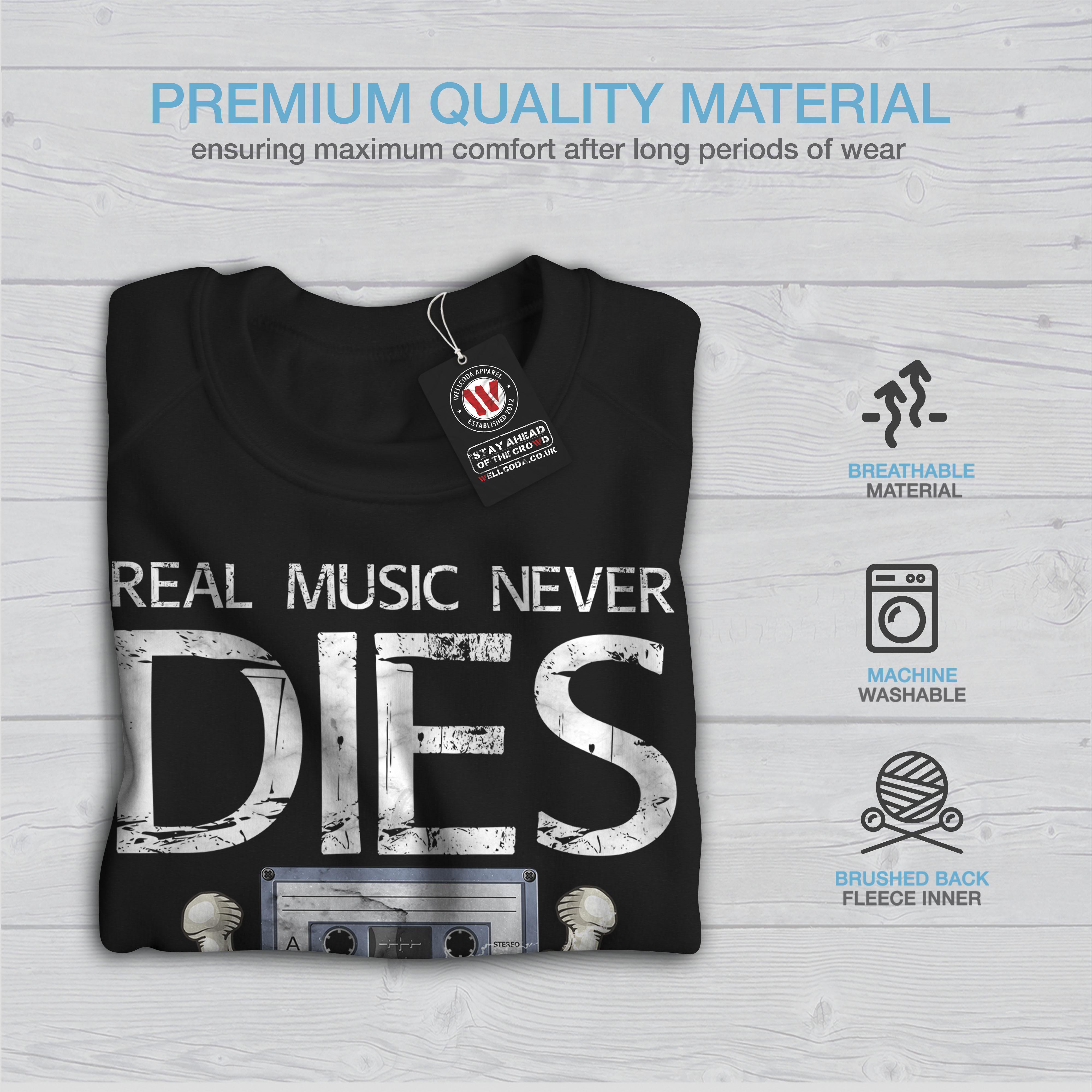 Casual Jumper Sweat Wohommess Pullover Real Music Noir shirtjamais Wellcoda meurt dCBoeErQxW