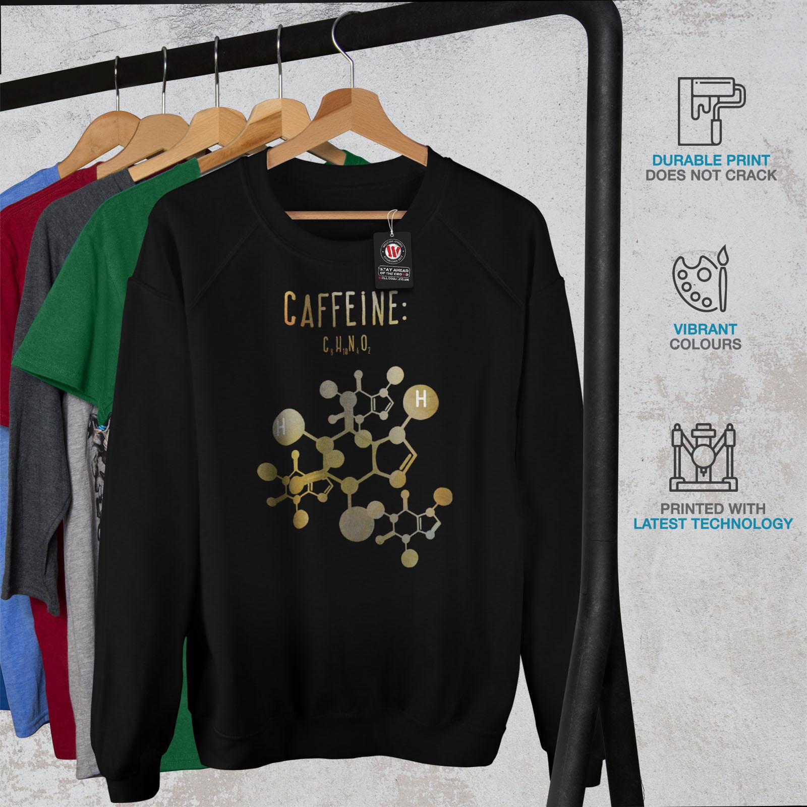 Black Wellcoda Womens Student Pullover Sweatshirt Formula Jumper Of Casual Caffeine AwrnqzxAav