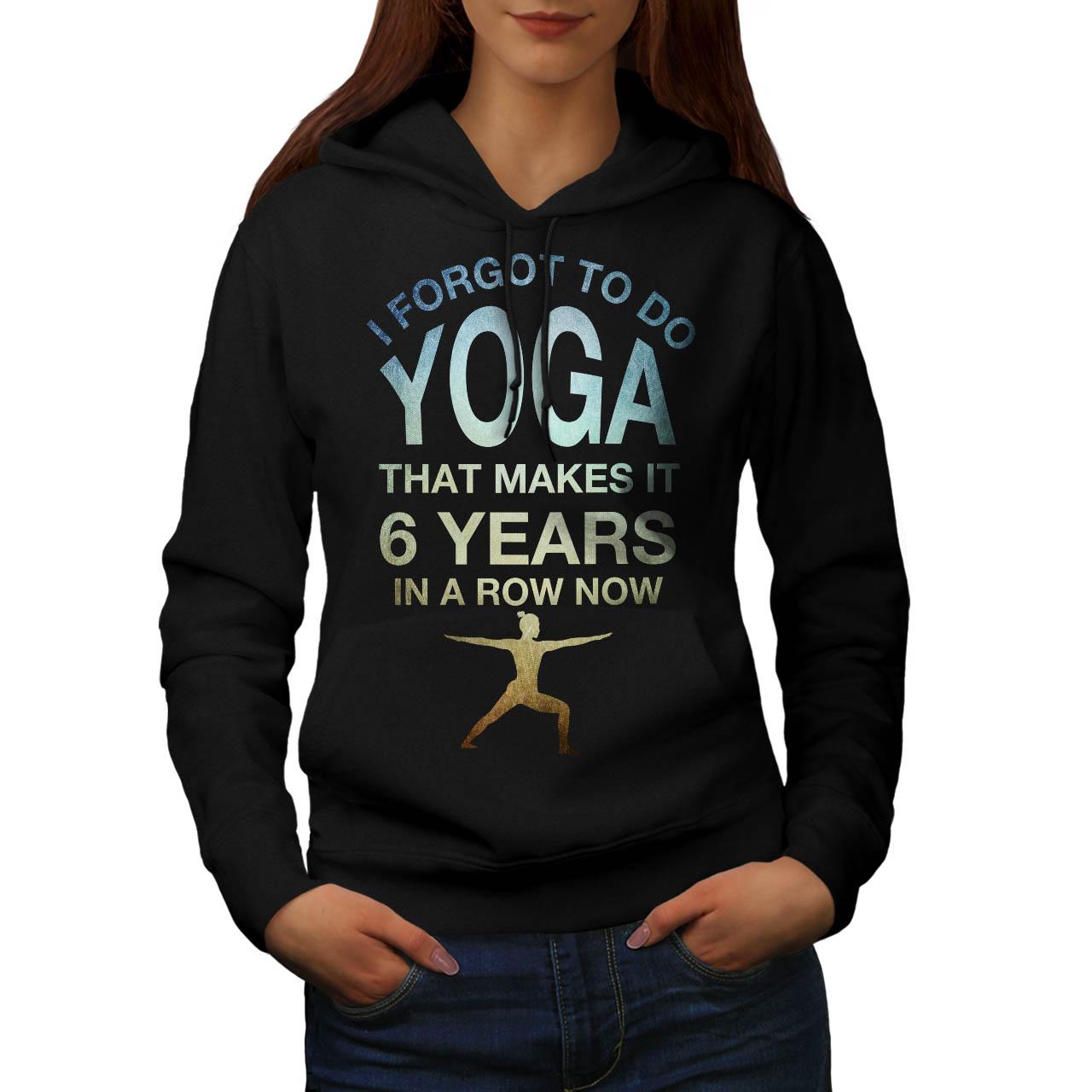 Lazy Funny Casual Hooded Sweatshirt Wellcoda Yoga Excercise Womens Hoodie