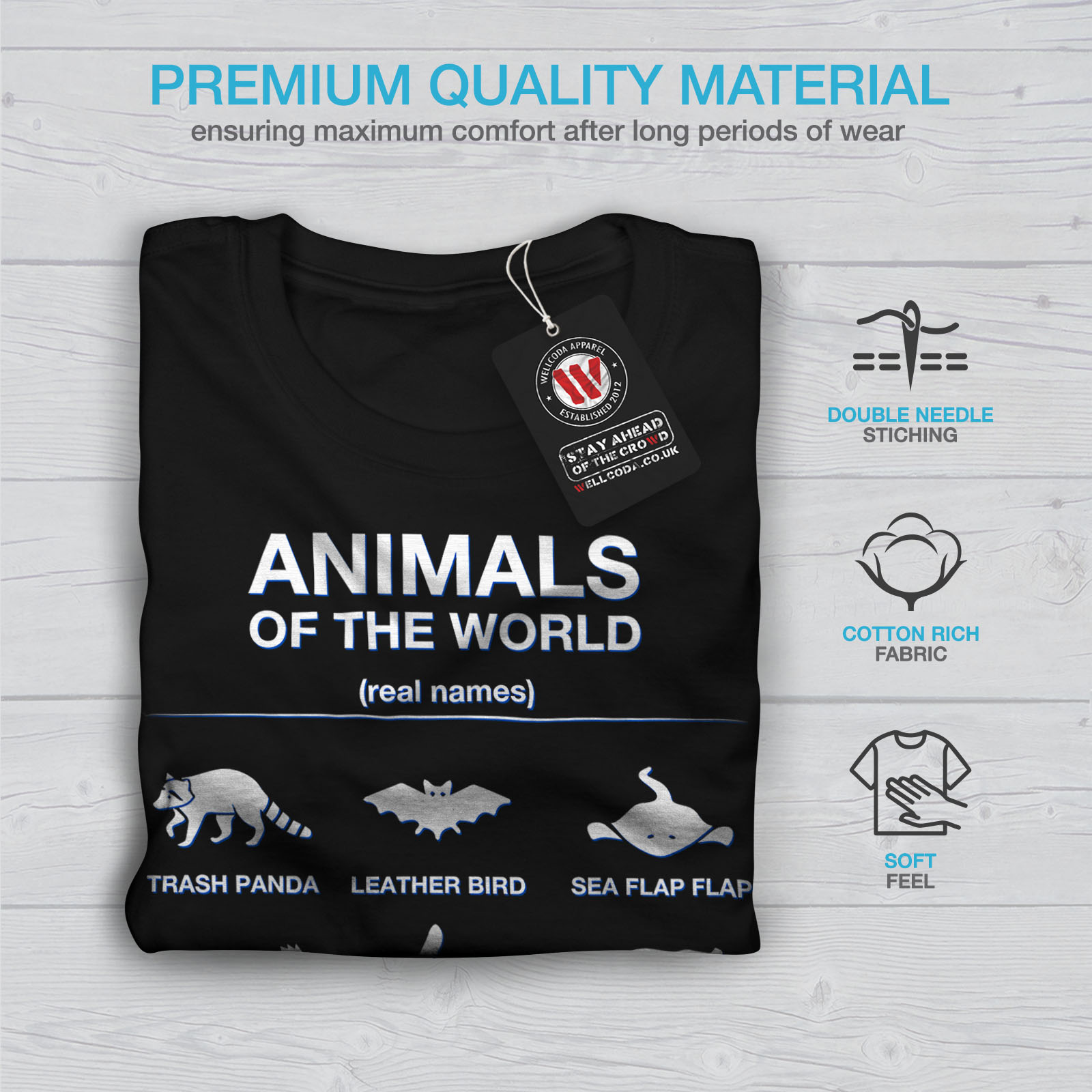 Details about Wellcoda Animals Funny Cute Womens Long Sleeve T-shirt,  Biology Casual Design