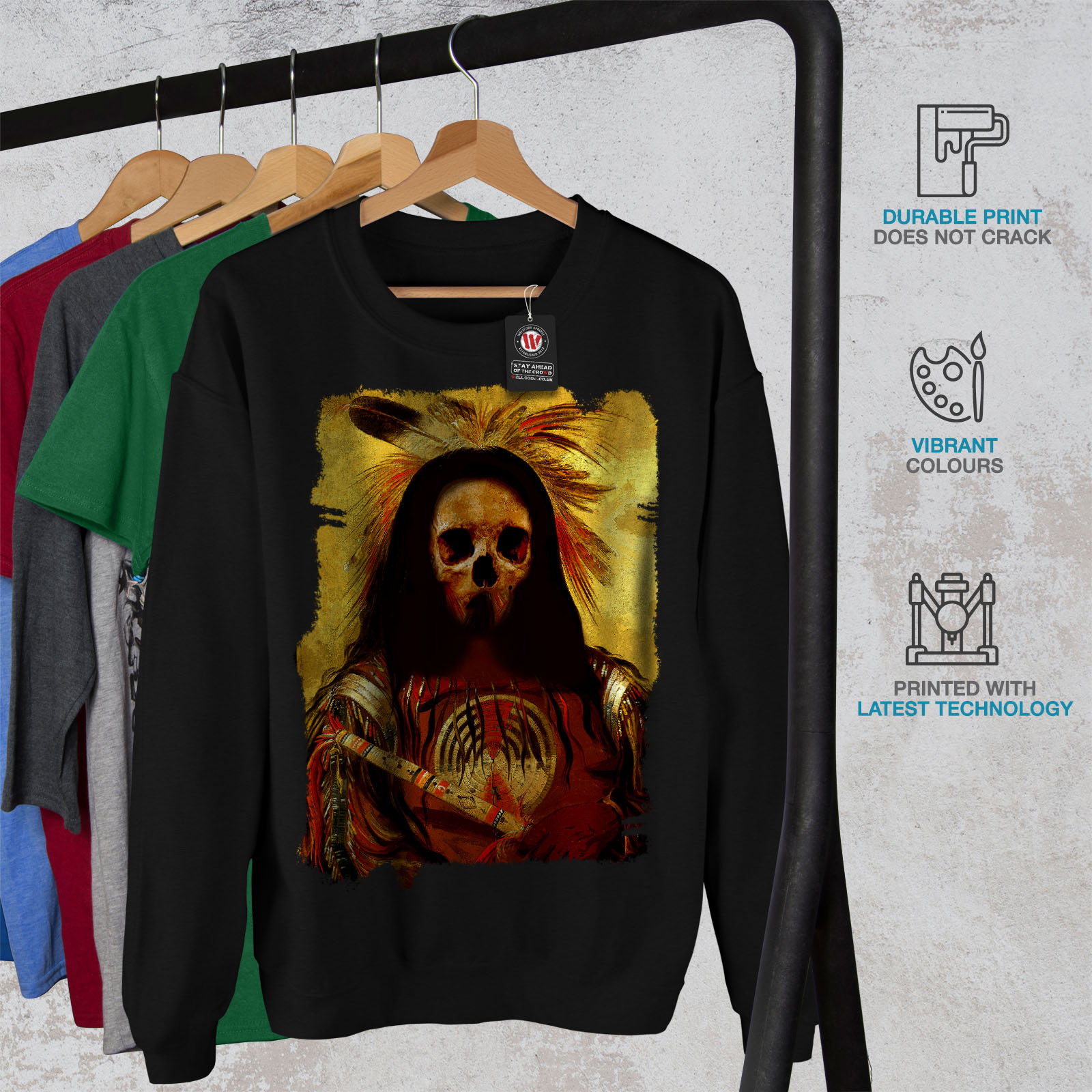 Old Skeleton Mens Noir Dᄄᆭcontractᄄᆭ Pull FelpaPull Indian Wellcoda l3TKc1JF