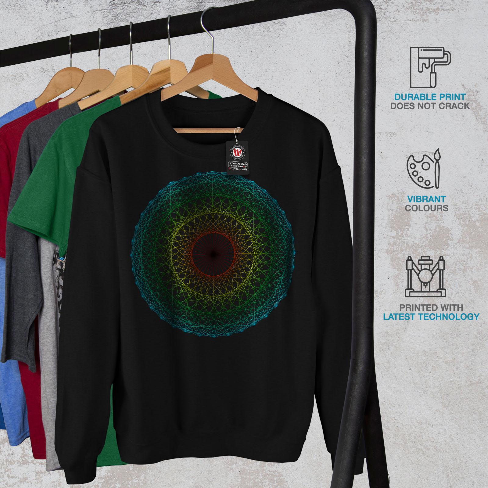 Black Circle Felpa Men Fashion New Abstract X7CqH