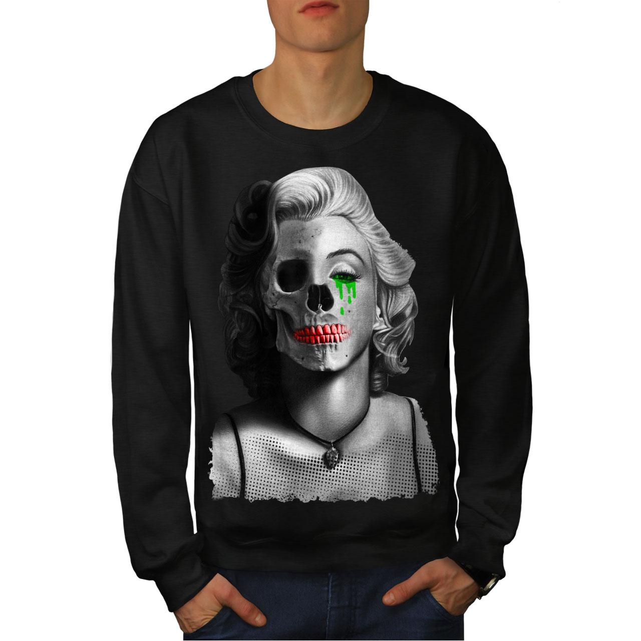 Paint Casual Pullover Jumper Wellcoda Skull Celebrity Mens Sweatshirt