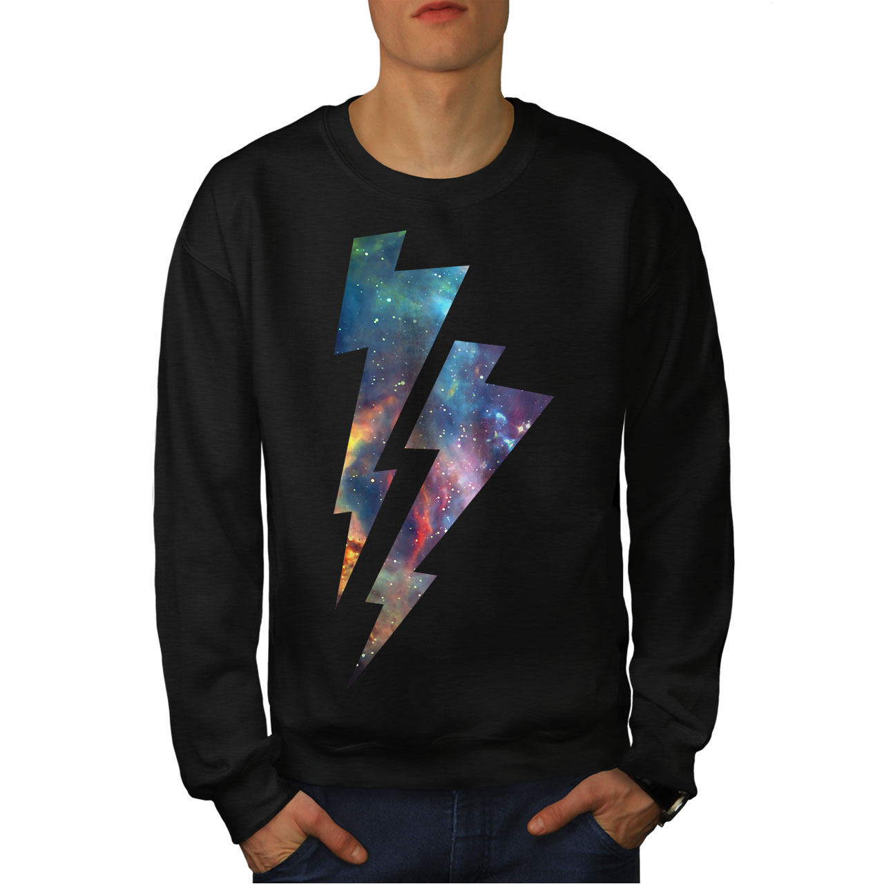 Wellcoda Colorful Insect Animal Mens Contrast Hoodie Rasta Casual Jumper