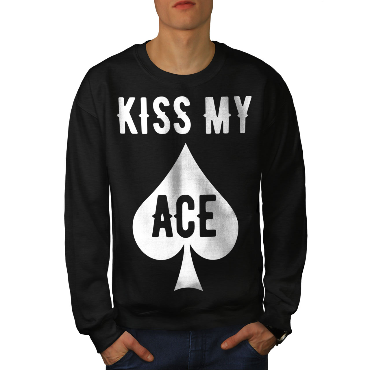 Black Ace Felpa New Card My Kiss Casino uomo da w8ZqTFf